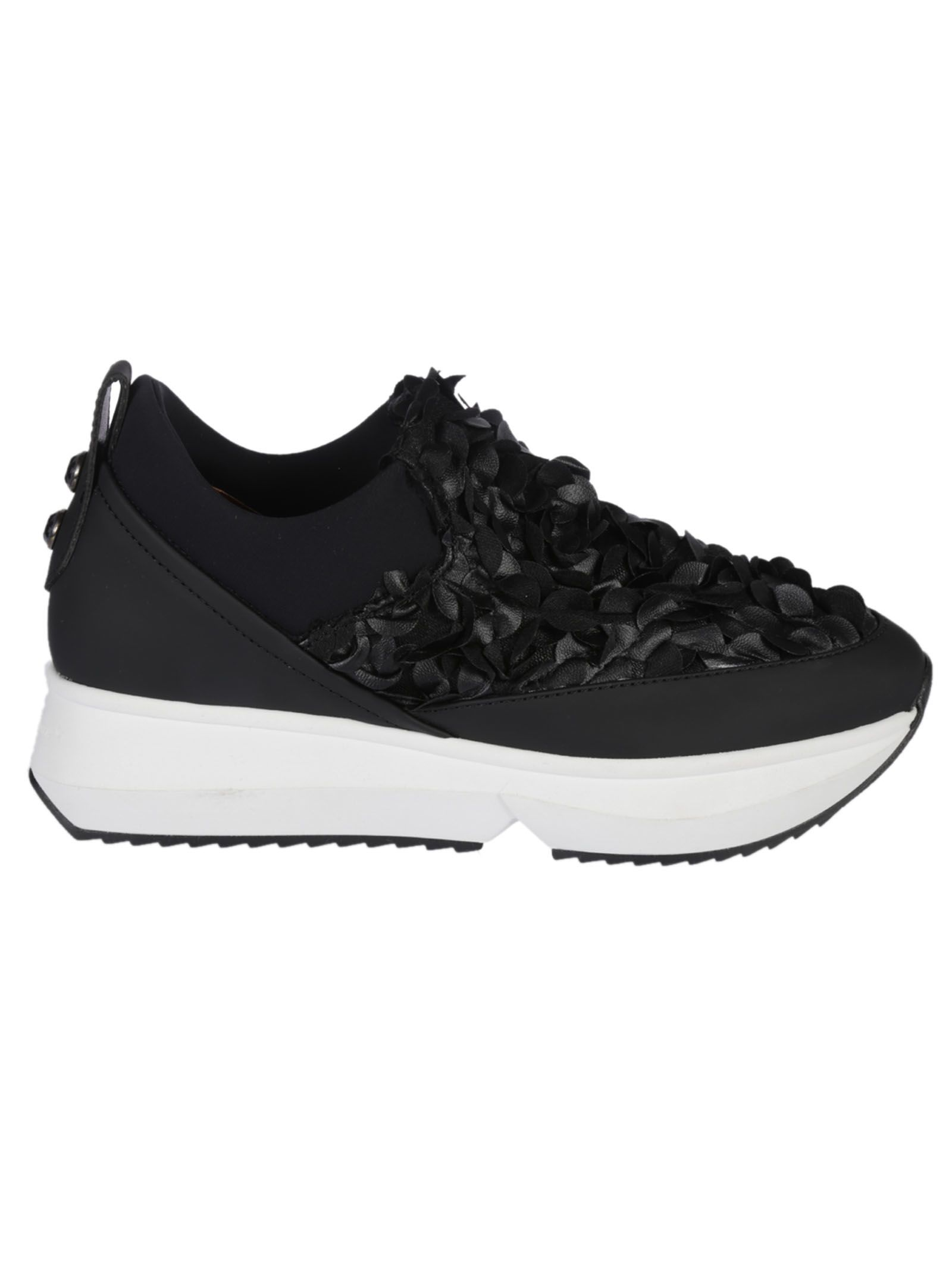Alexander Smith London Embroidered Flower Sneakers