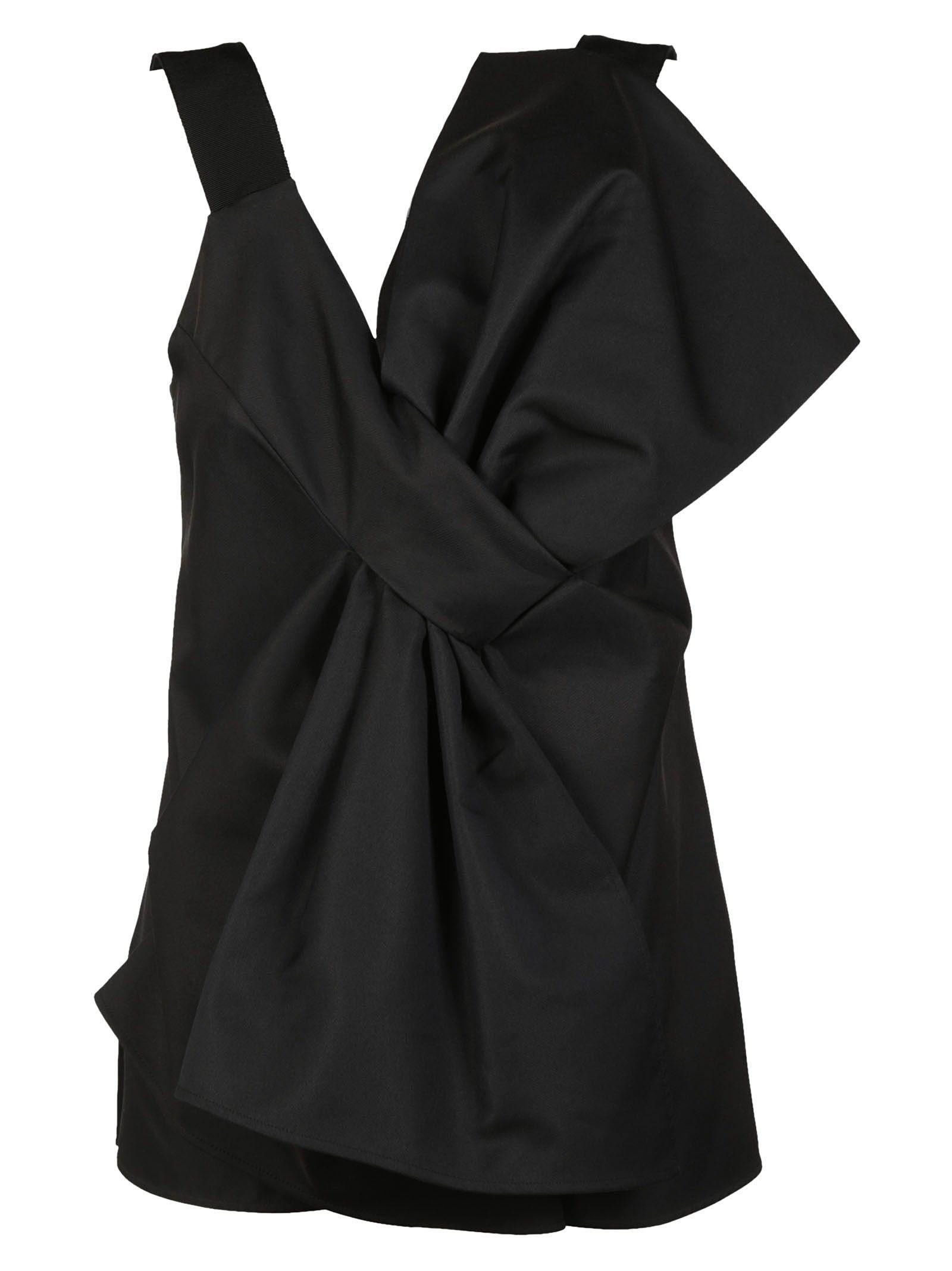 Victoria Beckham Asymmetric Bow Top