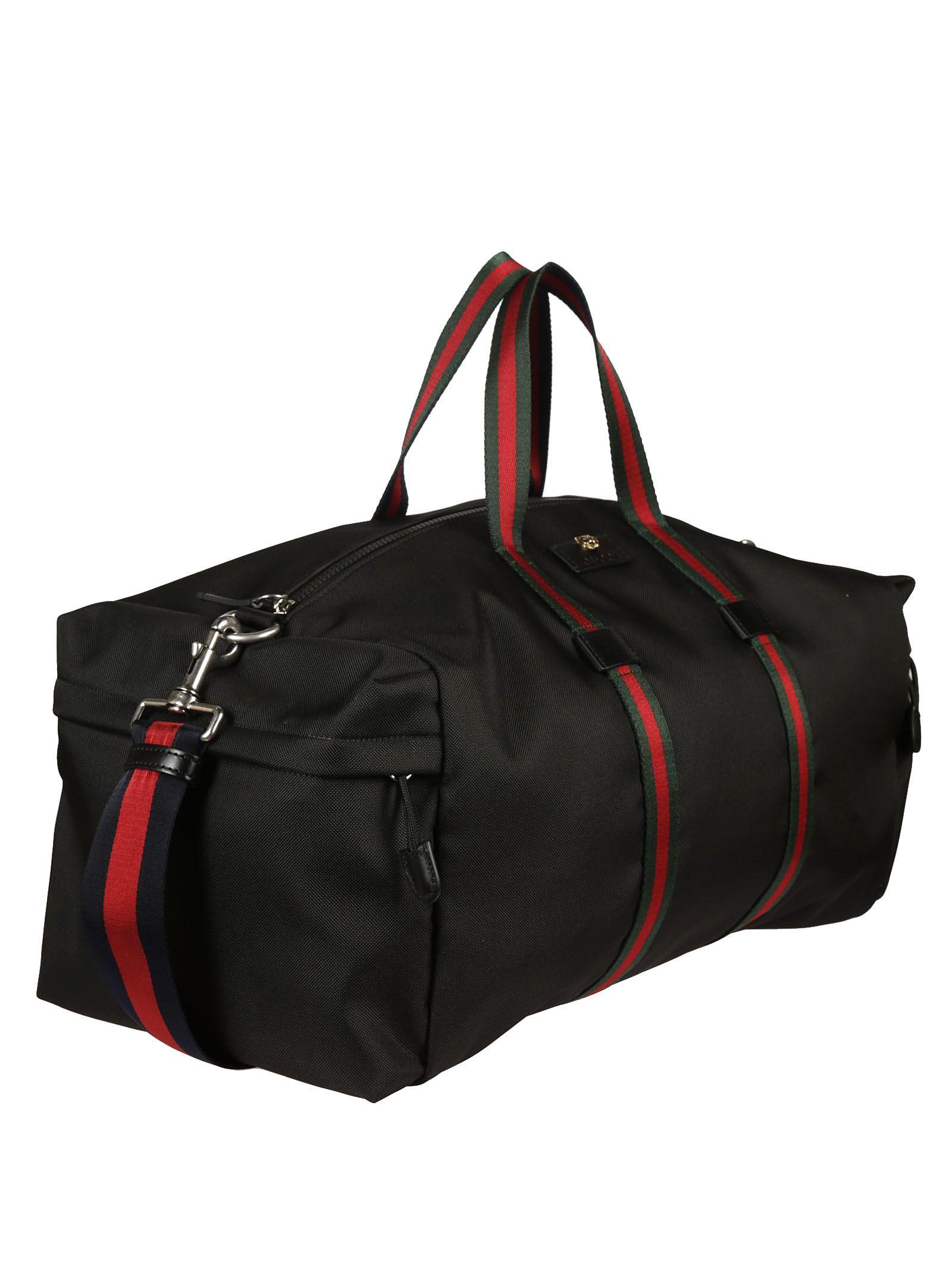 Gucci - Gucci Technical Canvas Duffle Bag - Black, Men's Luggage ...