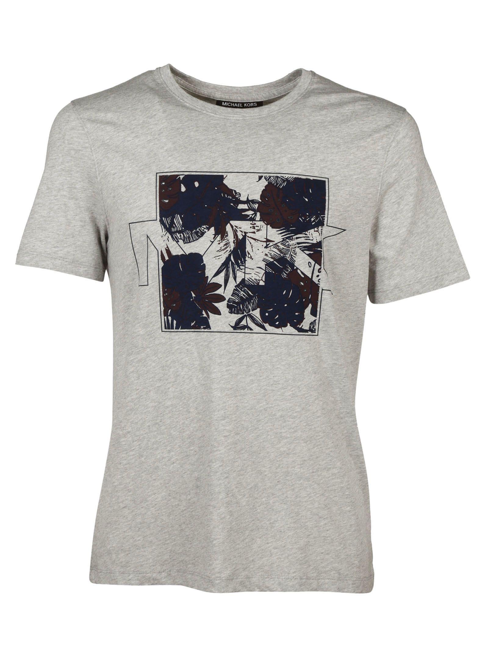 michael kors michael kors printed t shirt heather grey. Black Bedroom Furniture Sets. Home Design Ideas