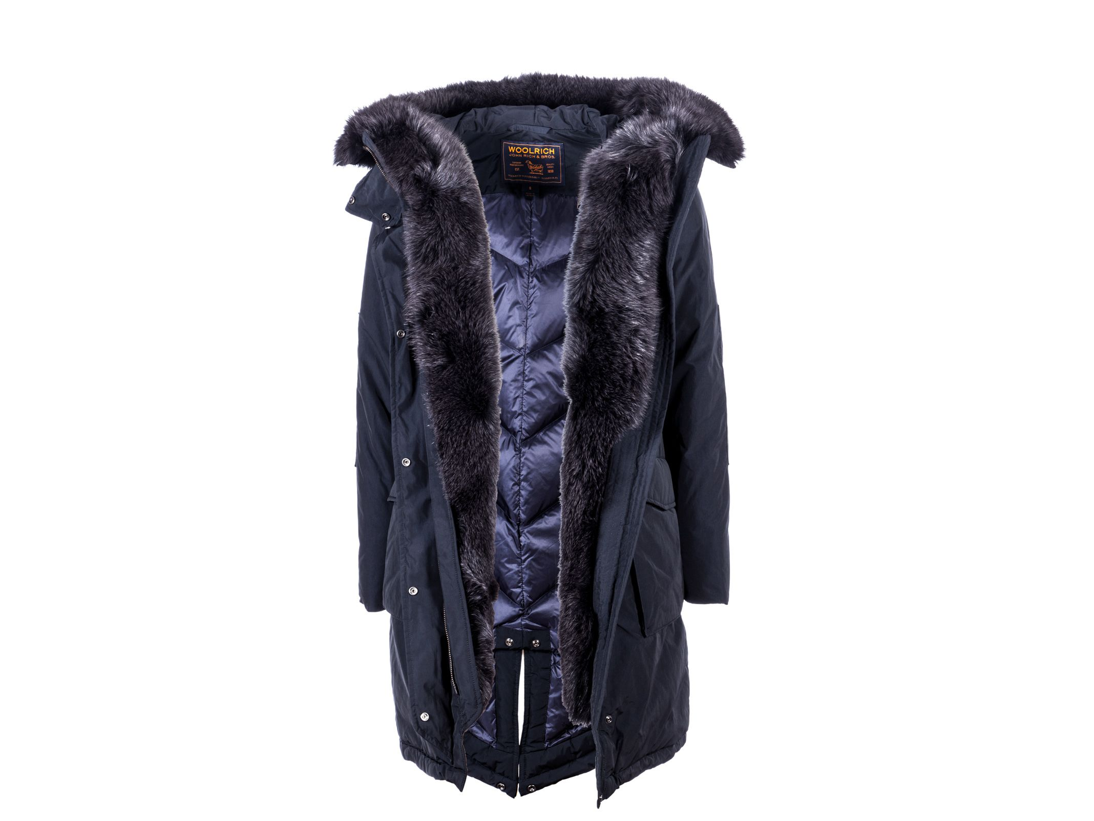 Woolrich - Woolrich Hooded Military Parka New Fur - Blue, Women's ...