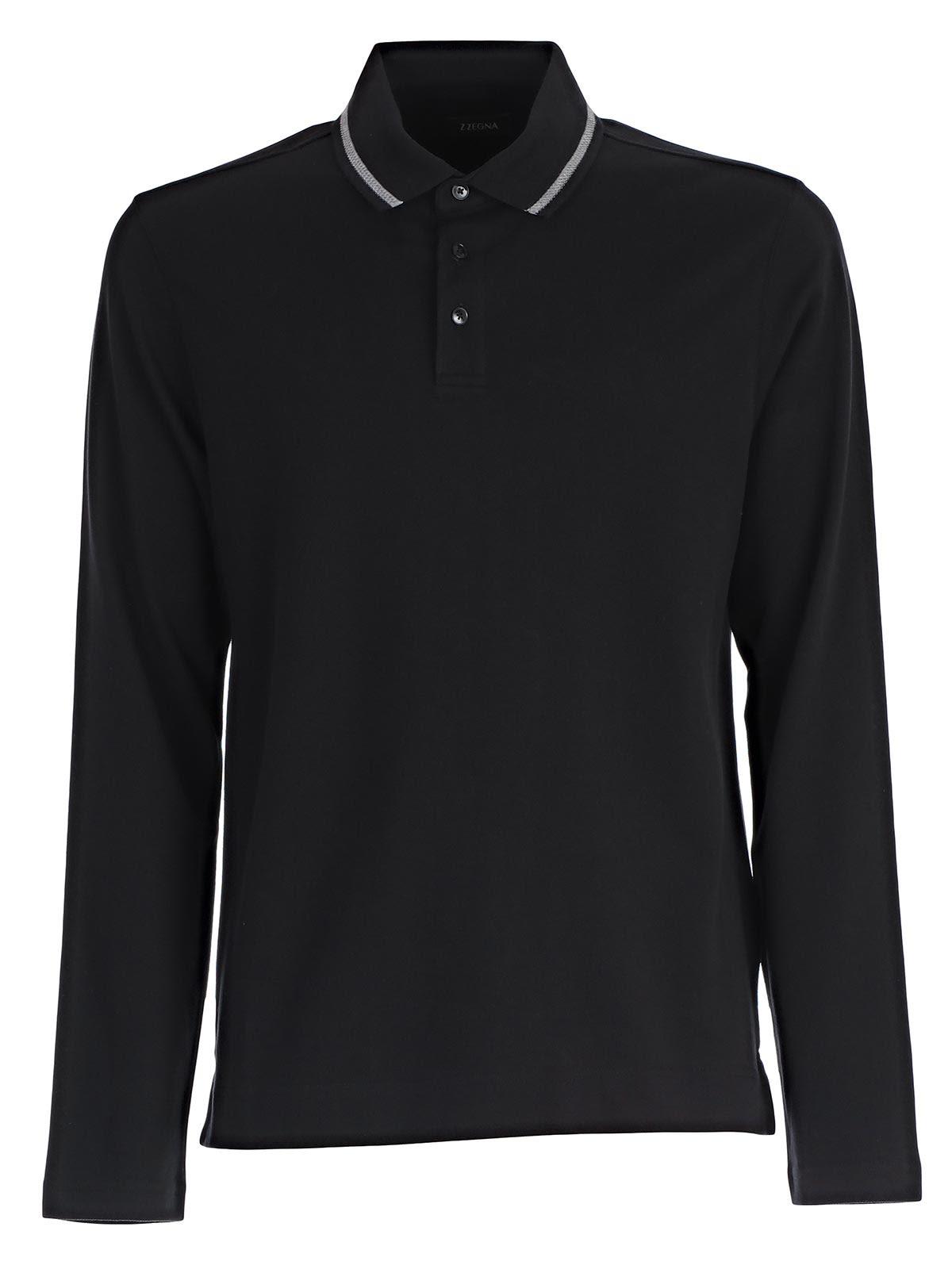 Z zegna z zegna polo shirt kblack men 39 s polo shirts for Zegna polo shirts sale