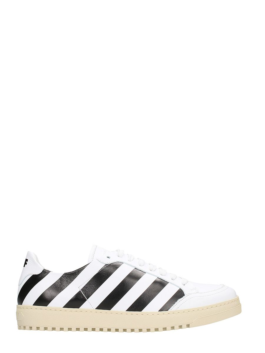 Off-White Diag Carryover White Leather Sneakers