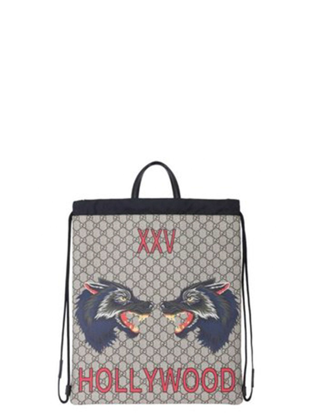 deeb840c7ce4 Gucci Printed Gg Supreme Drawstring Backpack In Nude & Neutrals ...