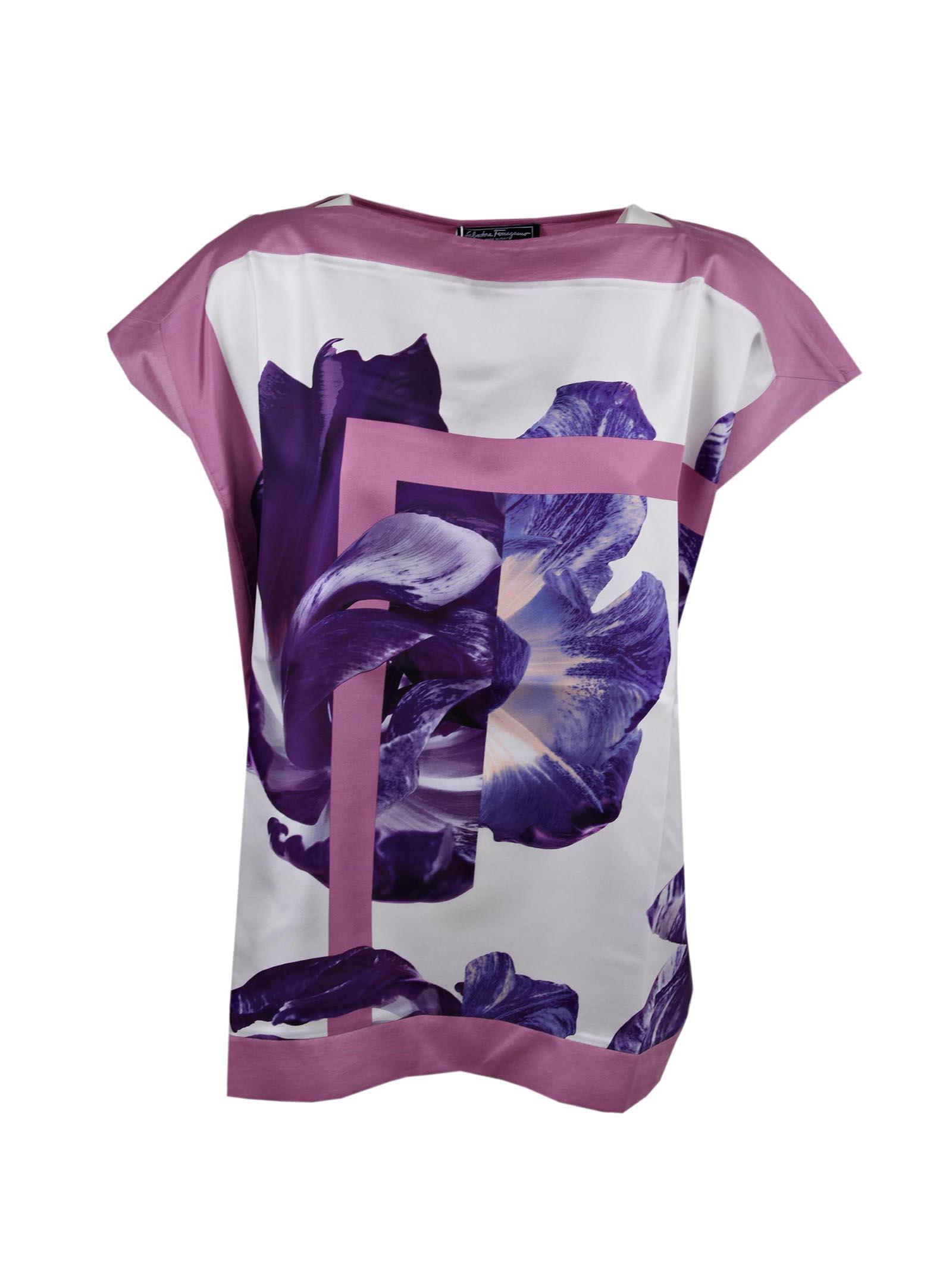 Salvatore Ferragamo T-shirt Tulipano Print