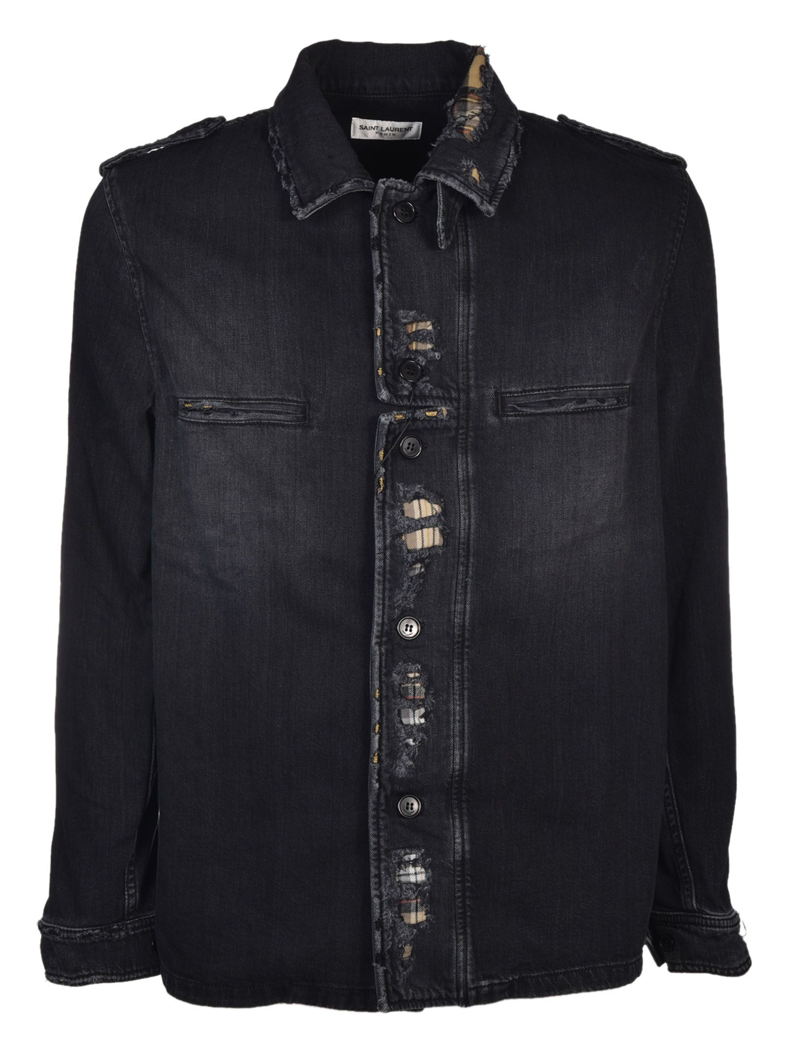 Saint Laurent Distressed Jacket
