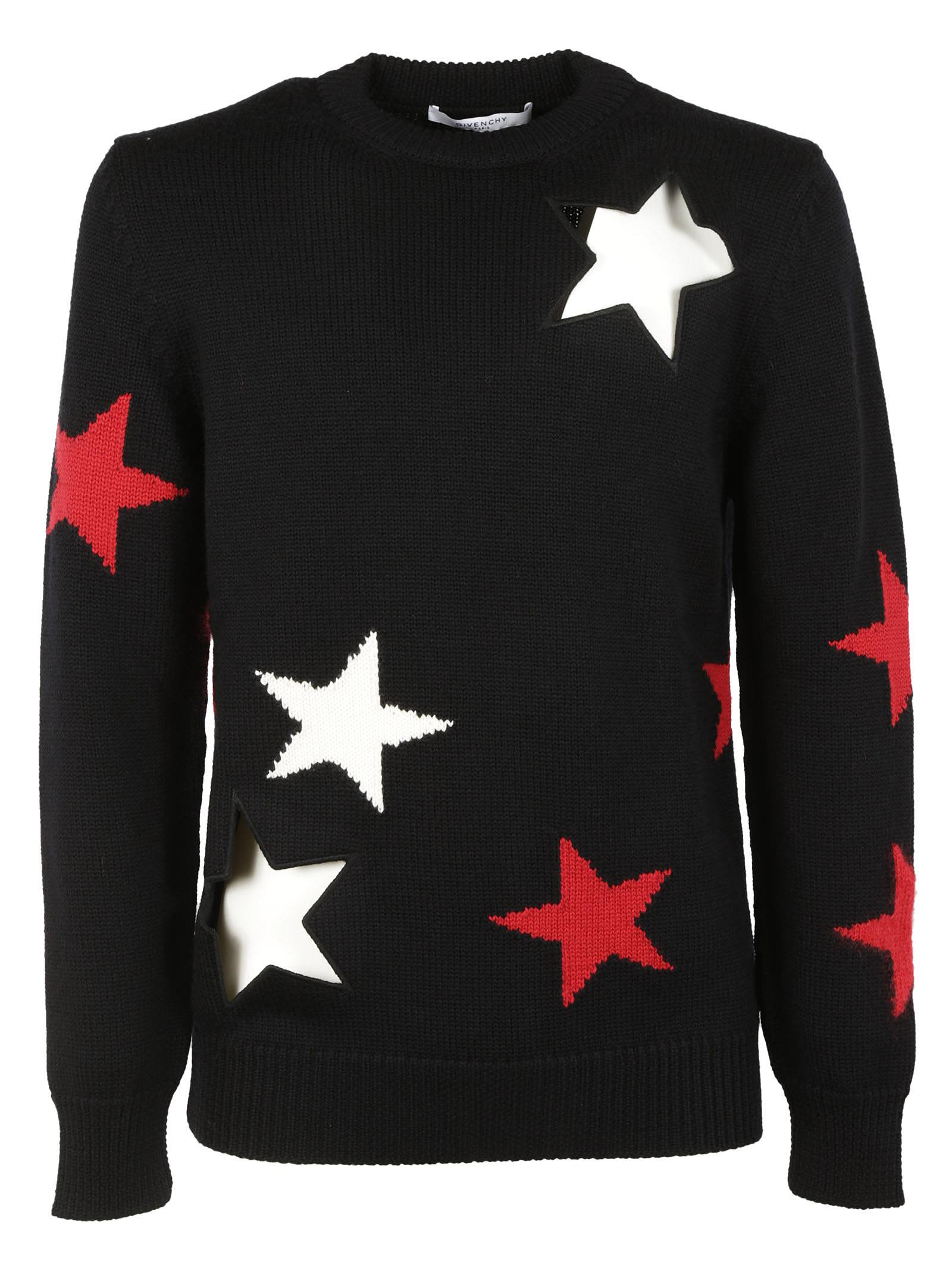 givenchy givenchy cut out star sweater men 39 s sweaters italist. Black Bedroom Furniture Sets. Home Design Ideas