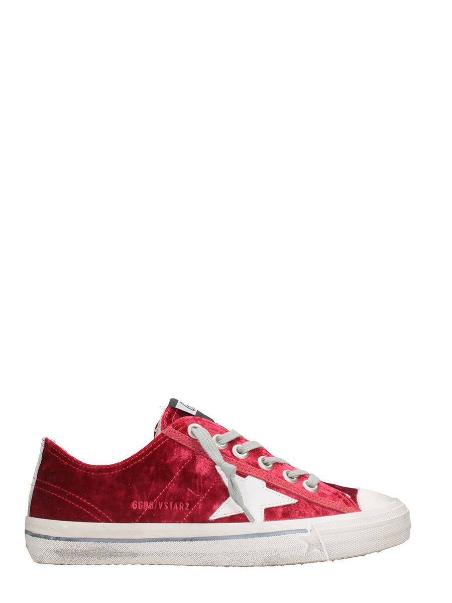 Golden Goose Vstar Red Velvet Snaekers