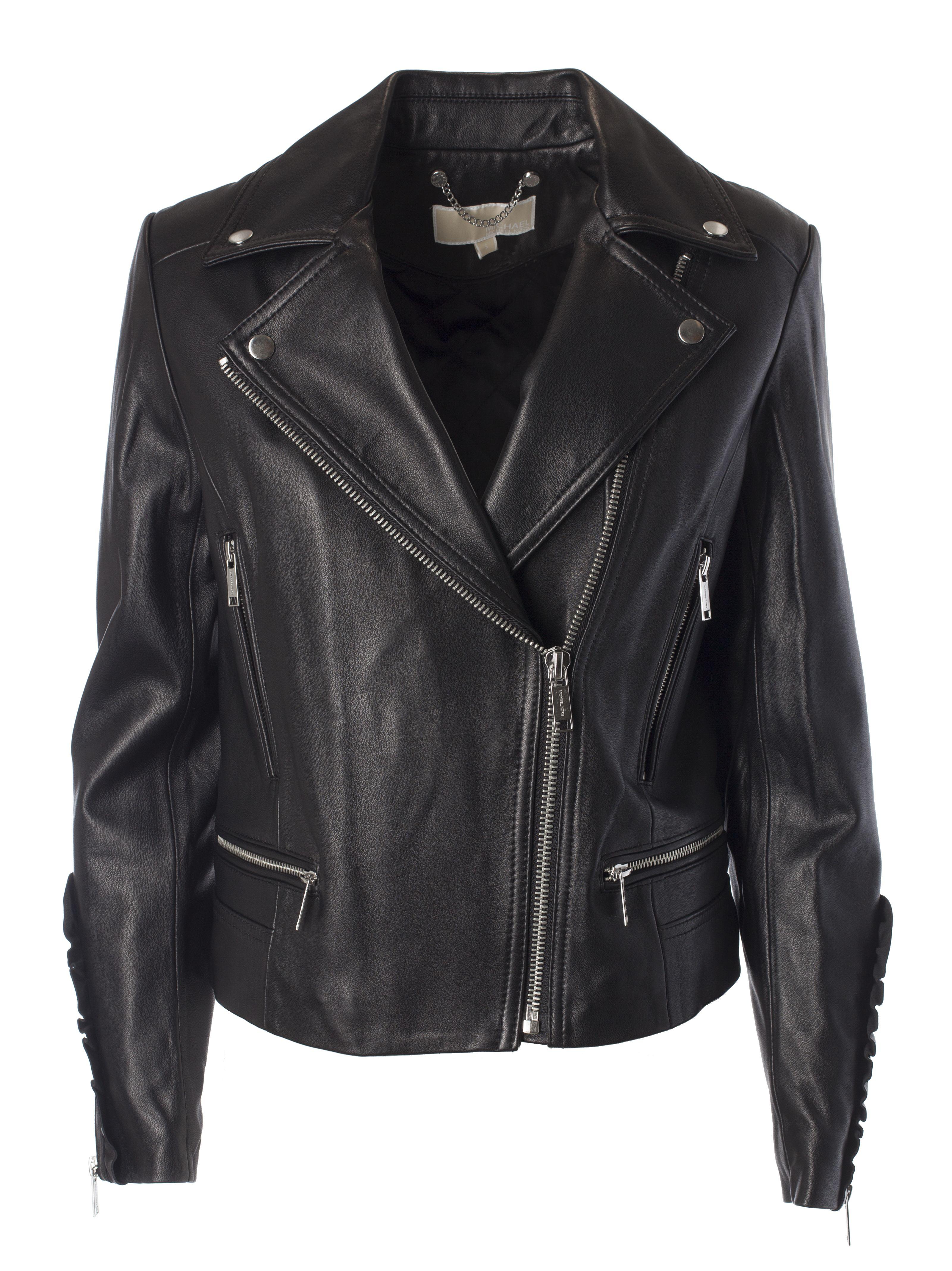 Michael Kors Frill Biker Jacket