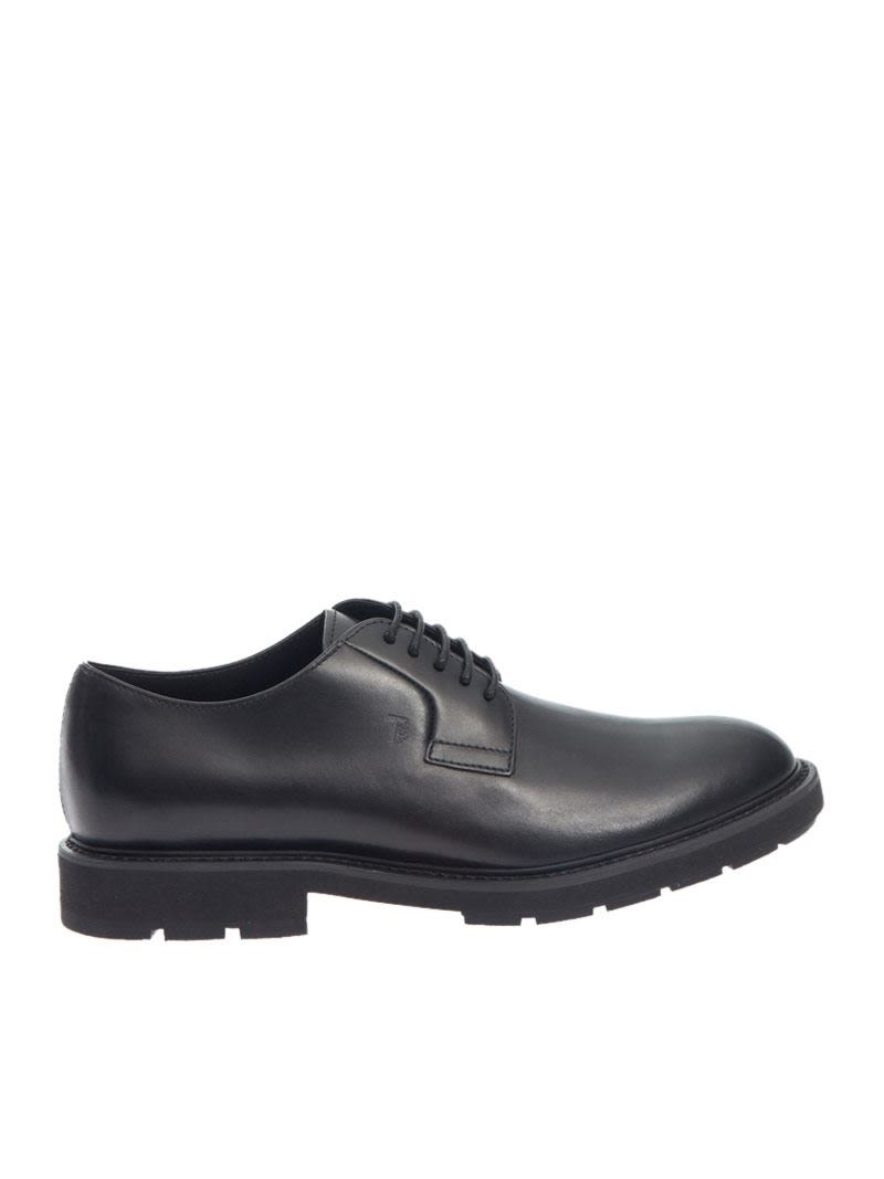 Tods Logo Derby Shoes