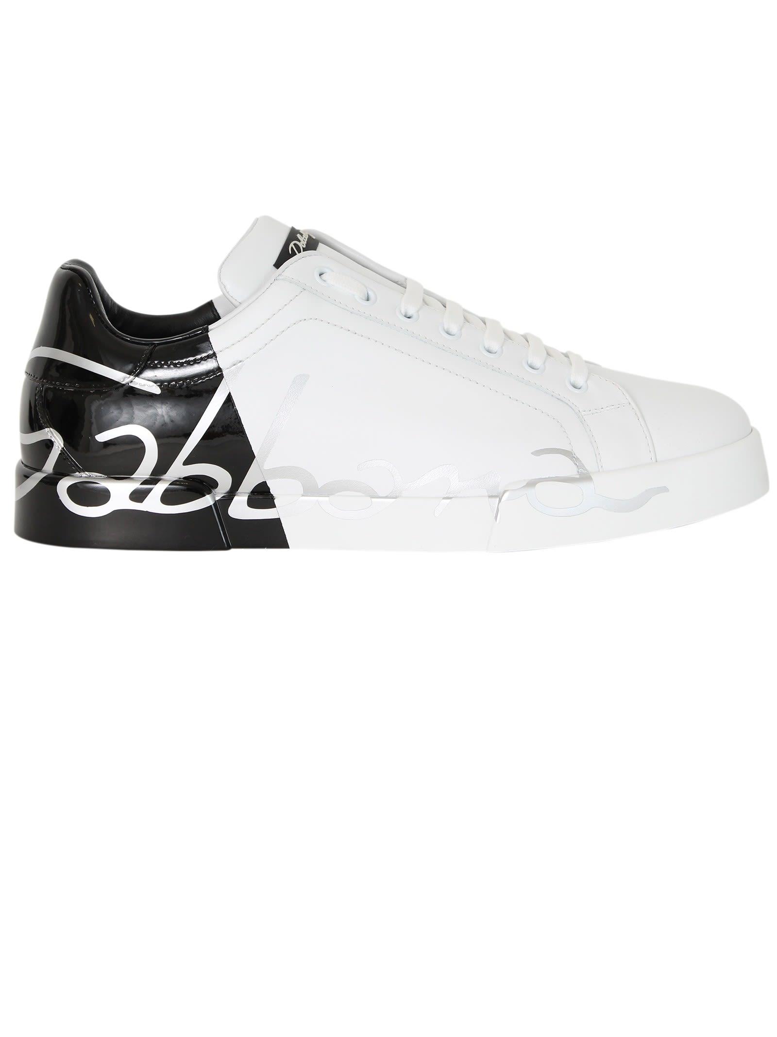 White Black Portofino Sneakers