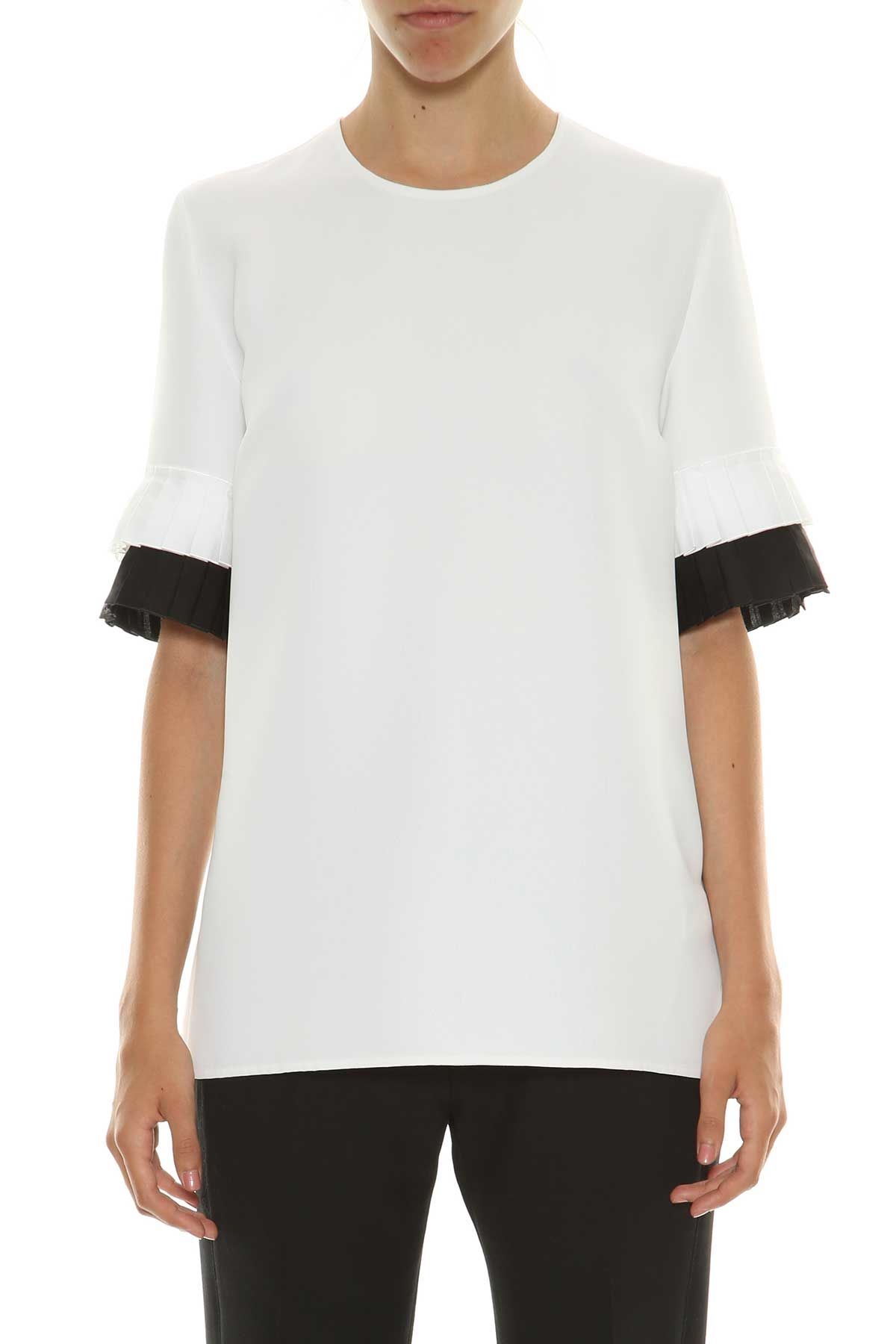 Victoria Victoria Beckham Victoria Victoria Beckham Top With Pleated Cuffs