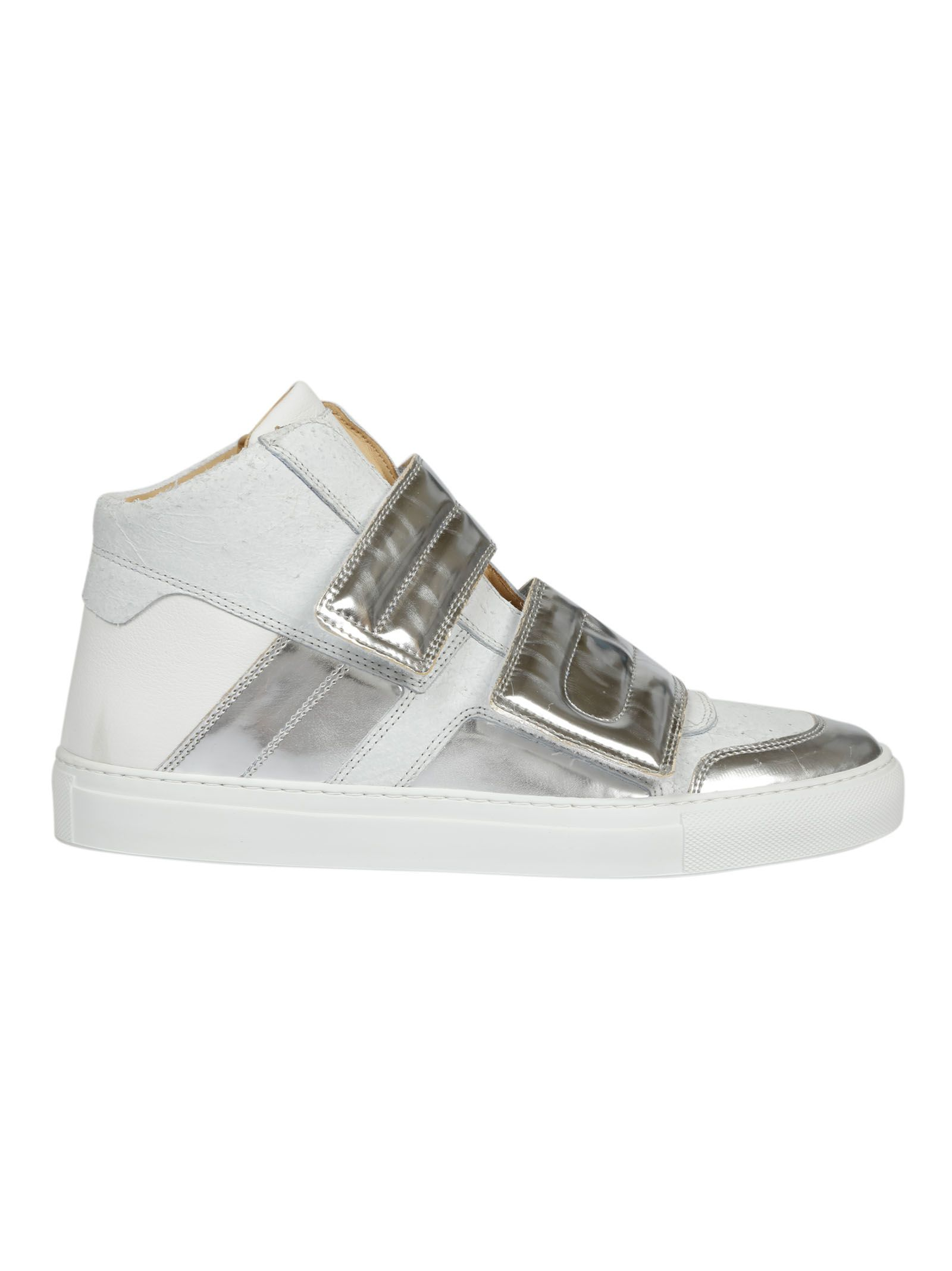 Mm6 Maison Margiela Panelled Hi-top Sneakers