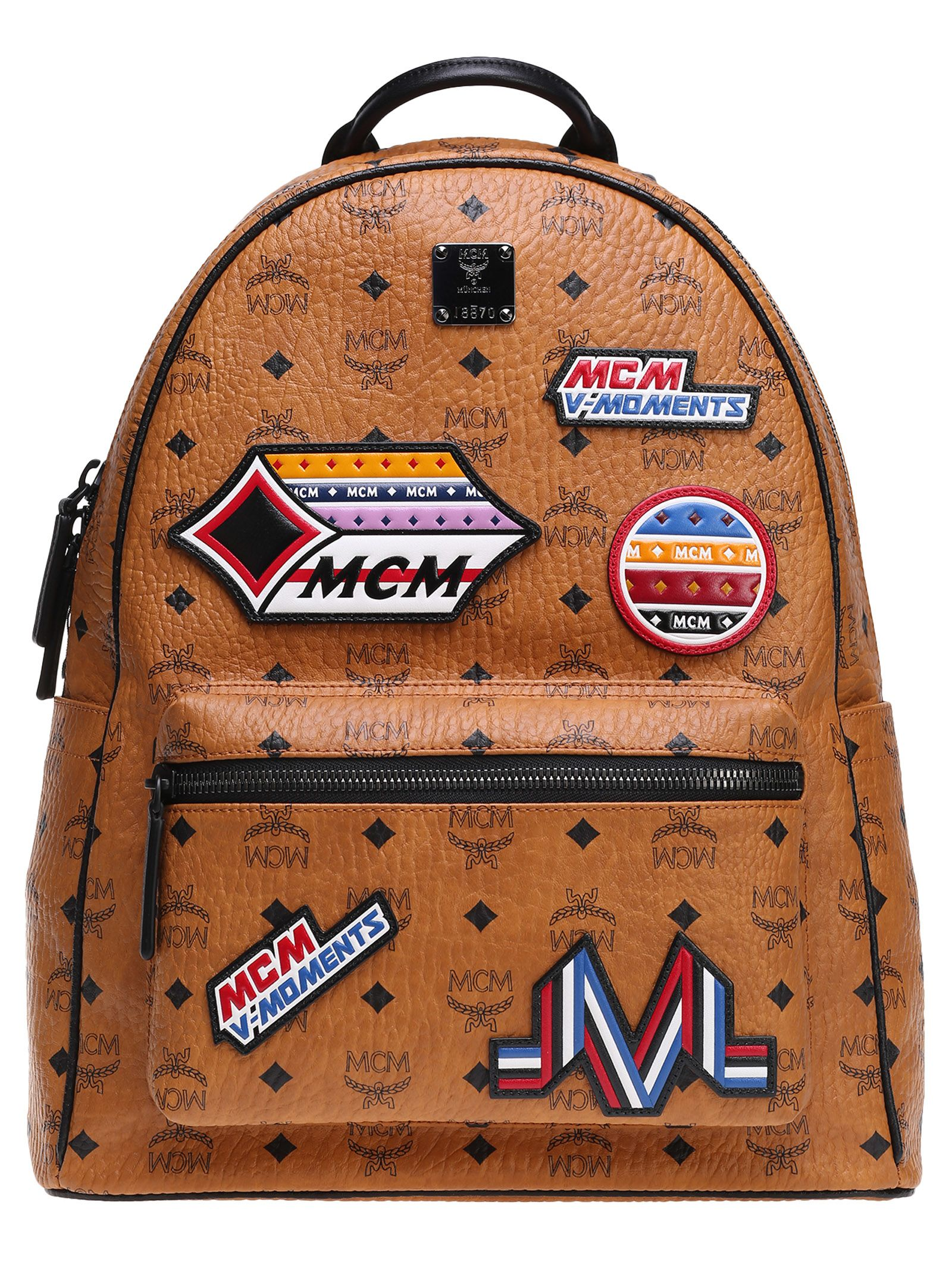 Mcm Patch Appliqué Backpack