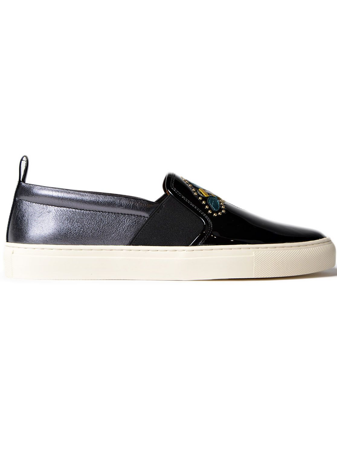 Bally Embroidered Slip-on Sneakers