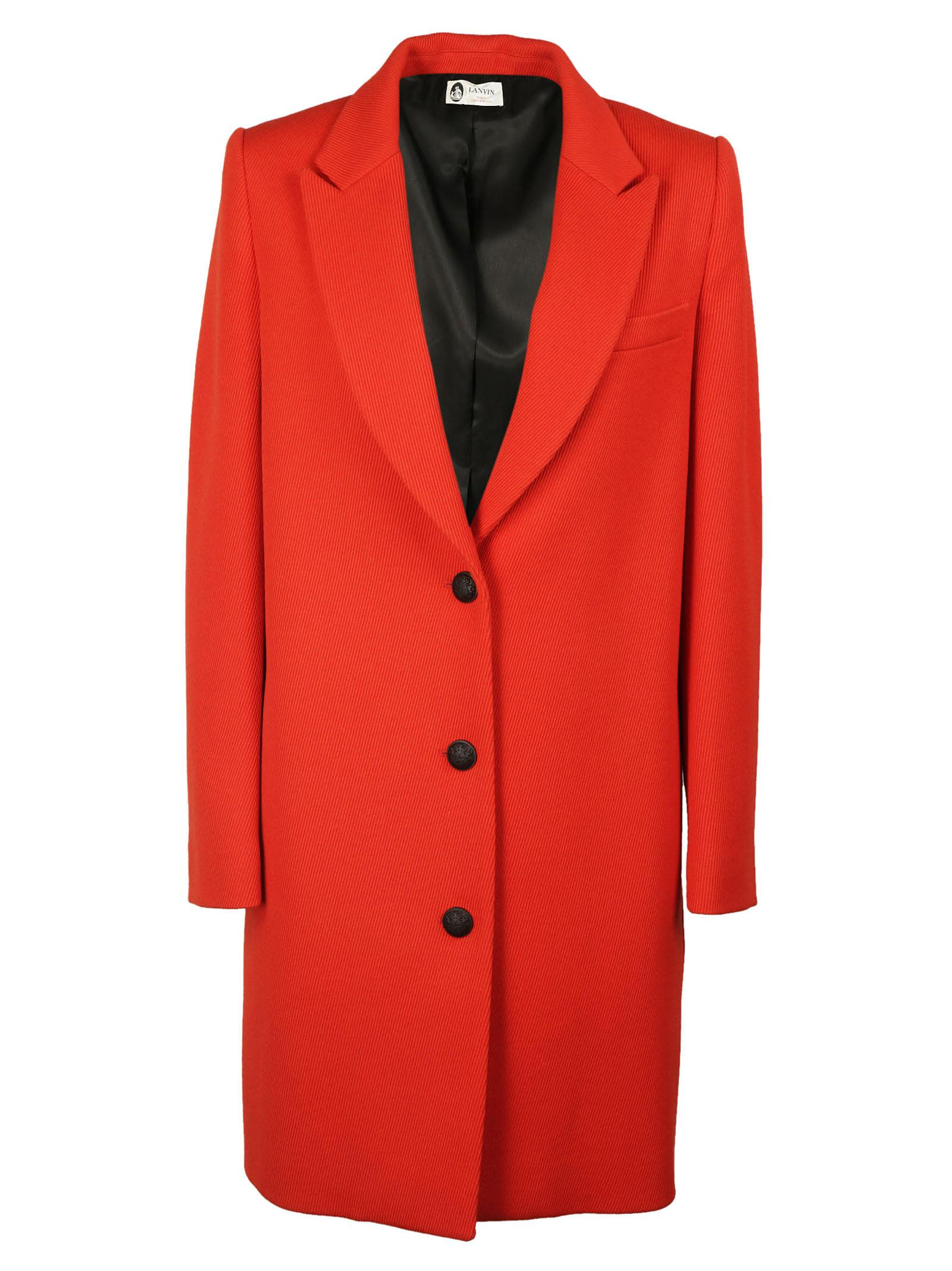 Lanvin Single Breasted Whipcord Coat