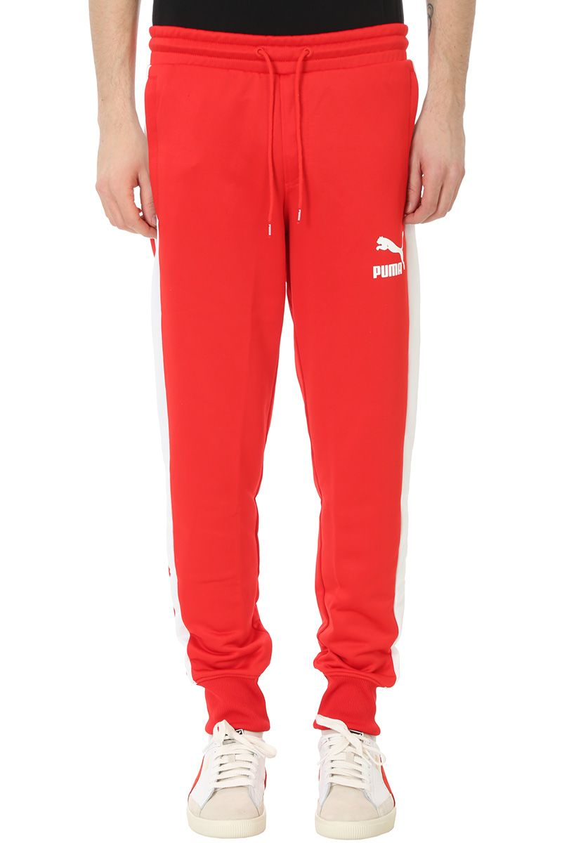 Puma Red Cotton Pants