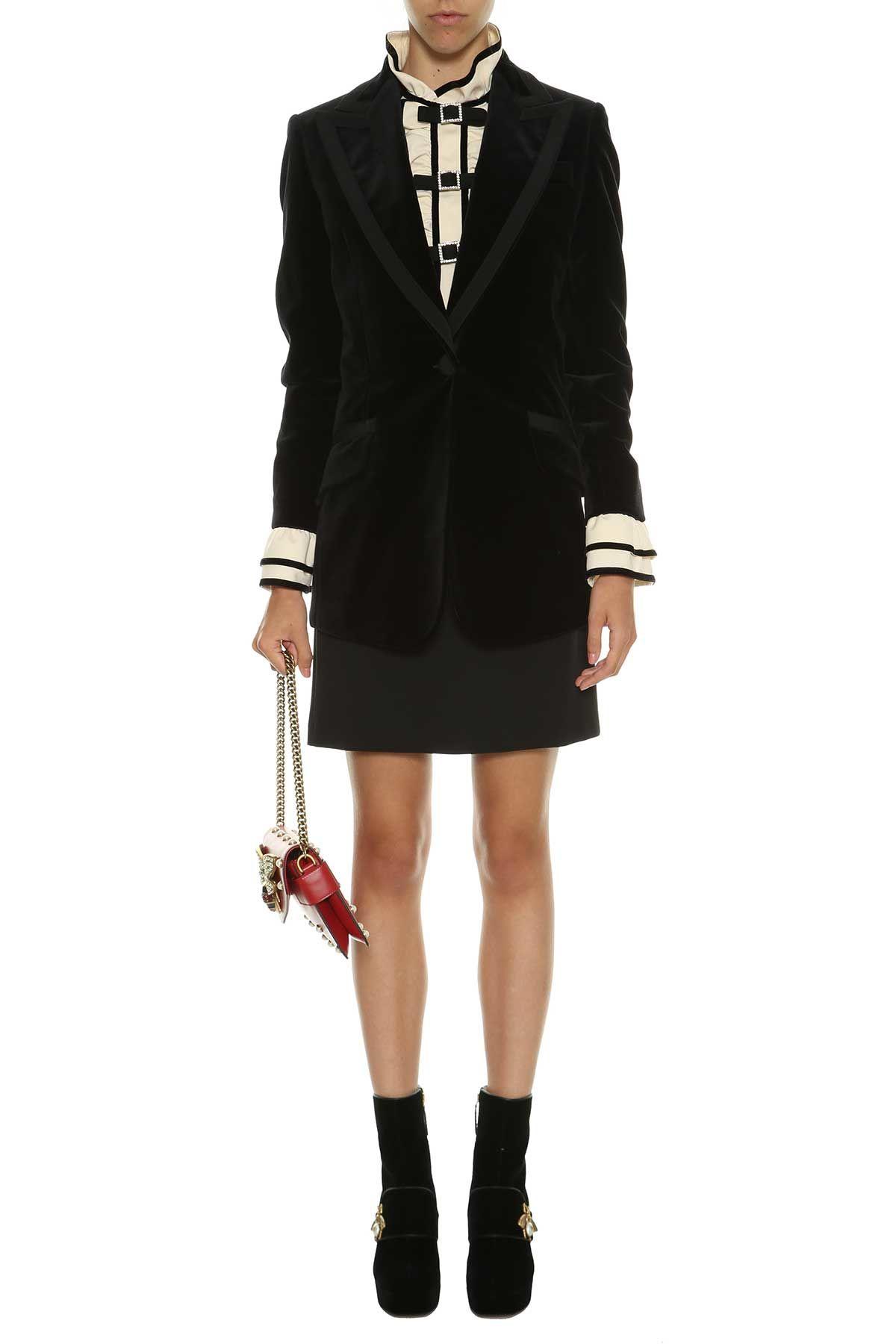 Gucci Velvet Embroidered Jacket