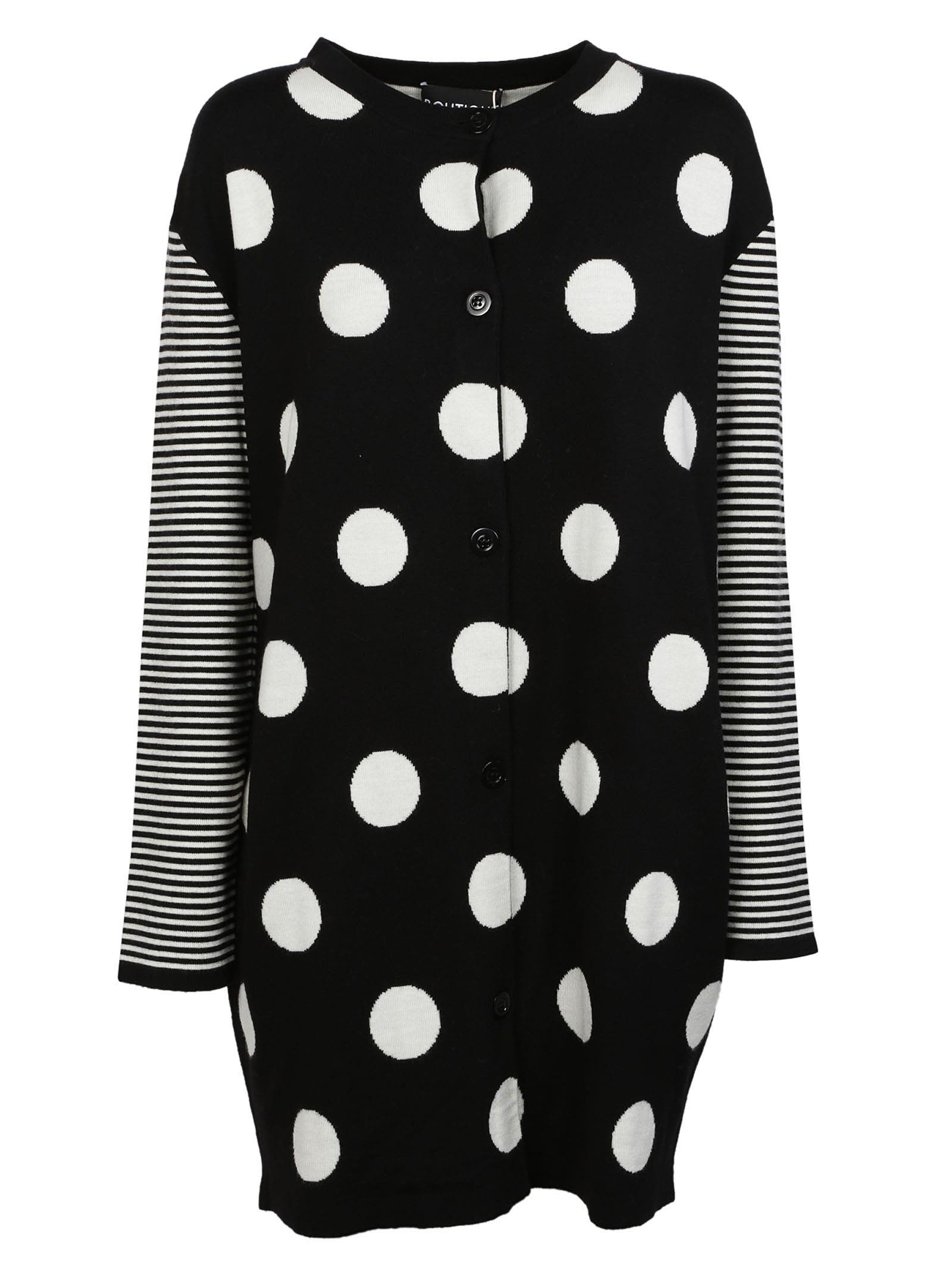 Boutique Moschino Spotted Oversized Cardigan