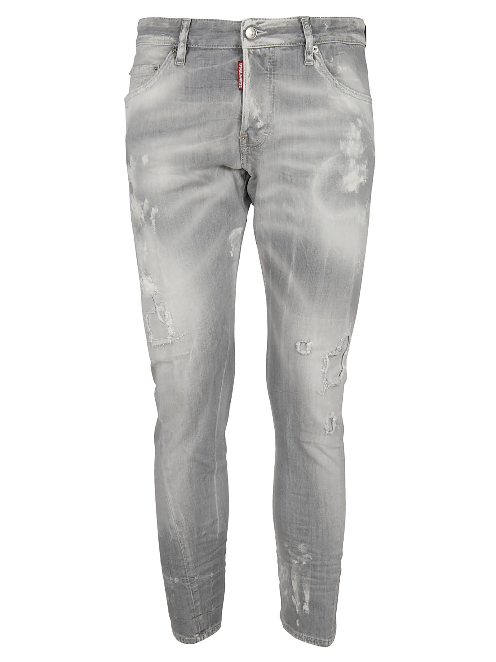Dsquared2 Distressed Faded Jeans
