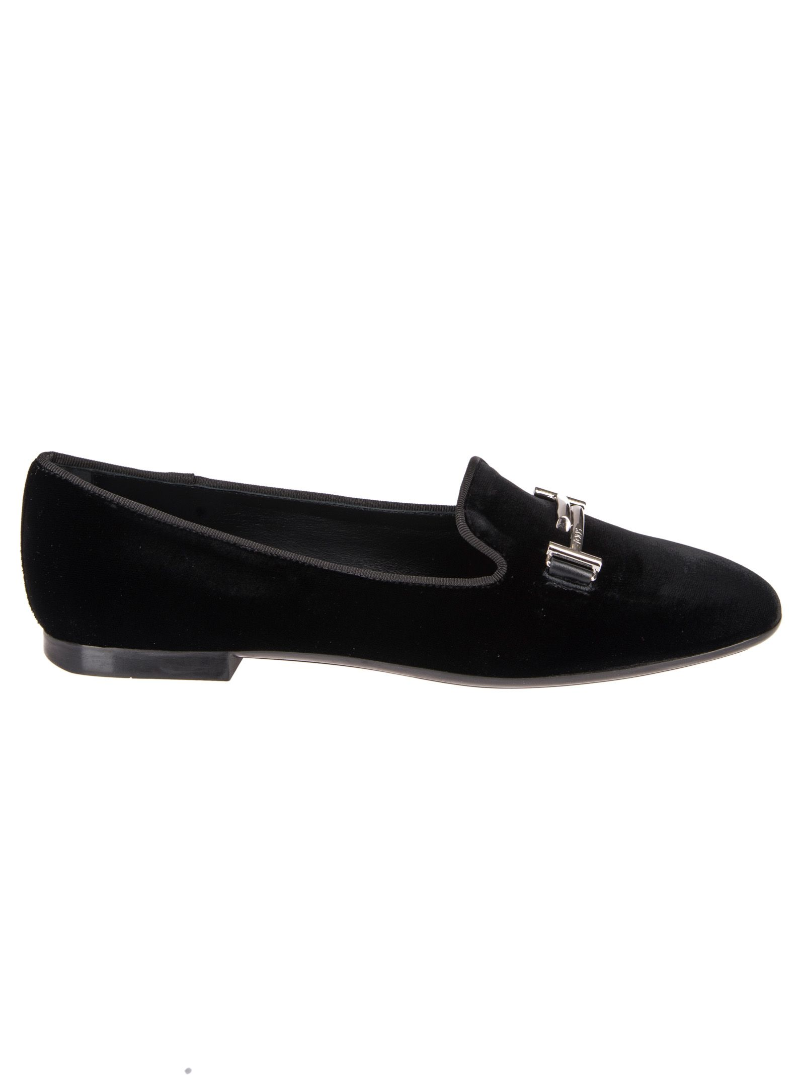 Tods Logo Plaque Slippers