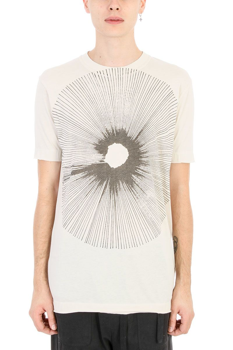 Damir Doma Teal Dust White Cotton T-shirt