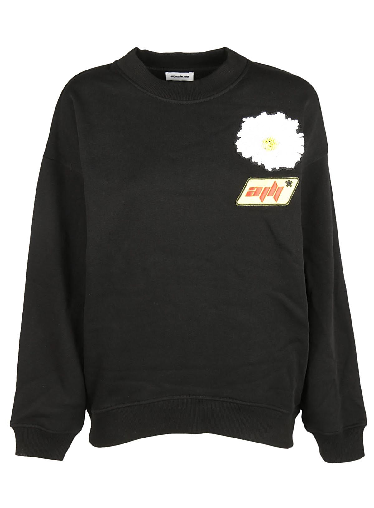 Au Jour Le Jour Au Jour Le Jour Embroidered Patch Sweatshirt