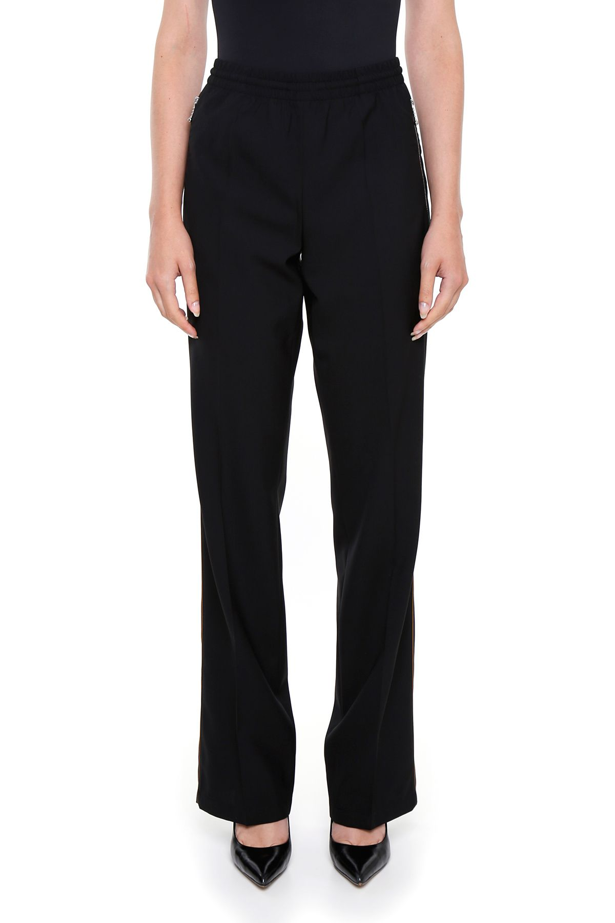Lightweight Wool Trousers With Piping