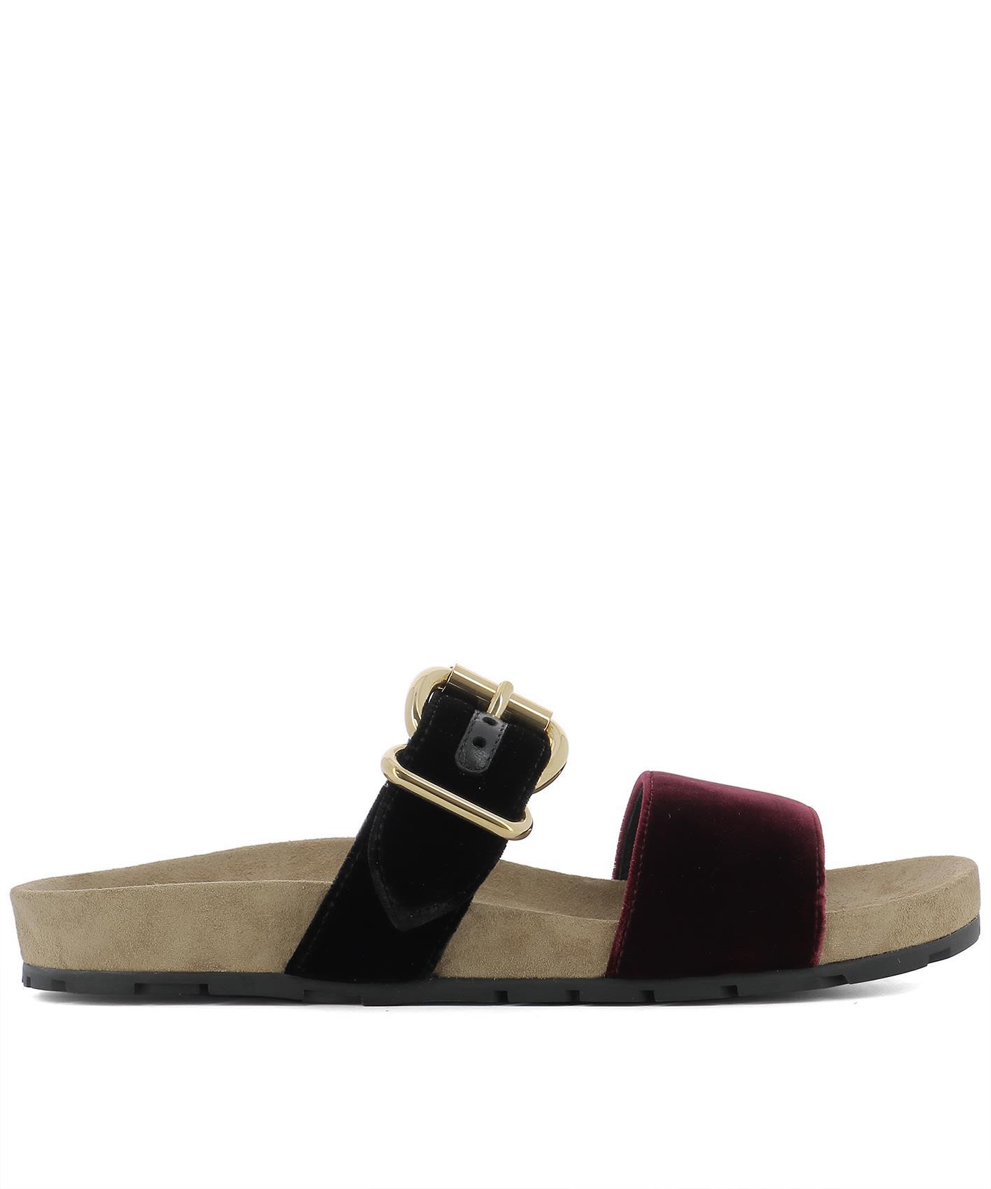 Bordeaux Velvet Sandals