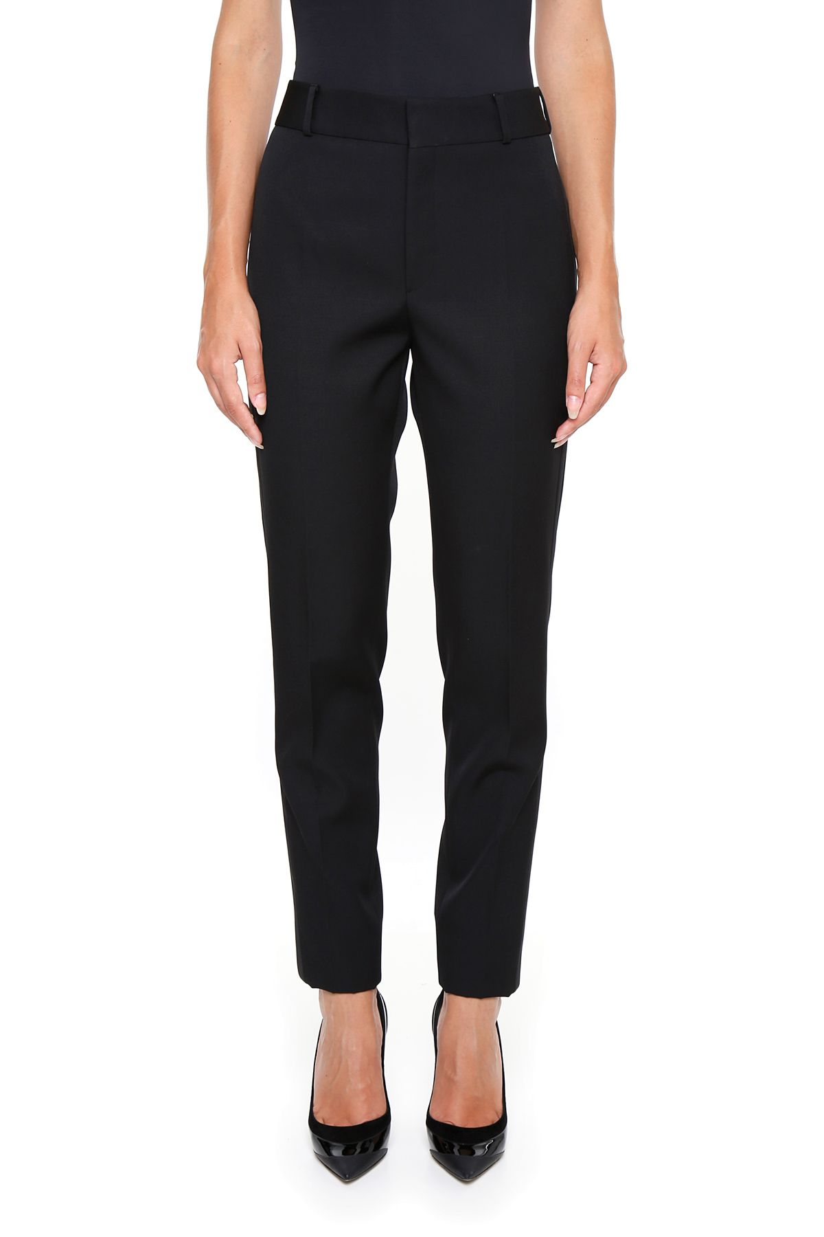 Trousers With Satin Bands