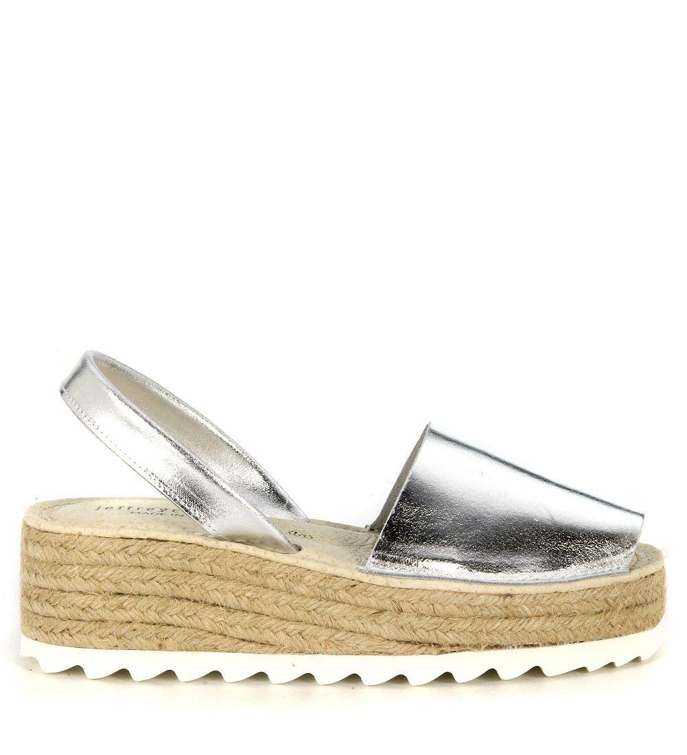 Jeffrey Campbell Ibiza Silver Leather Sandal