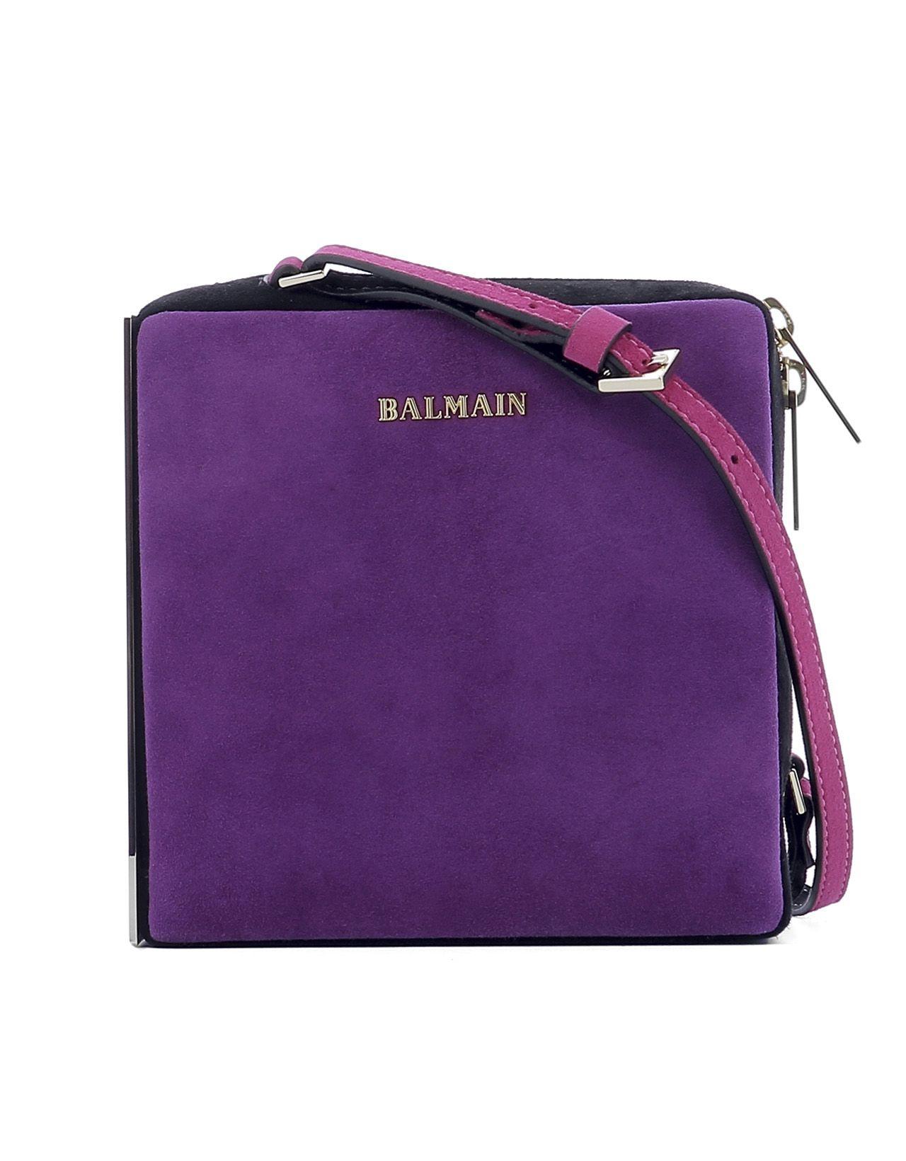 Purple Suede Shoulder Bag