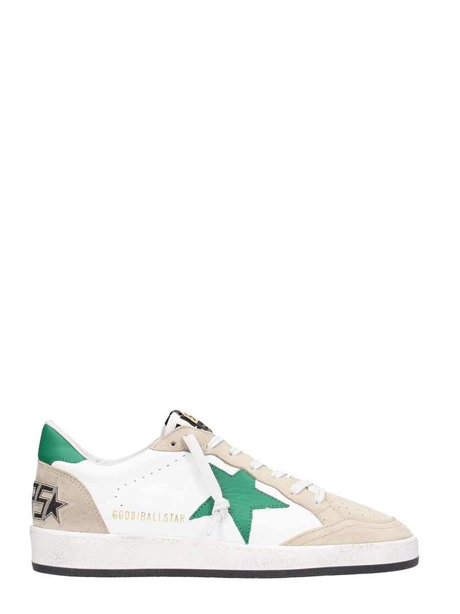 Golden Goose Ball Star Beige Leather Sneakers