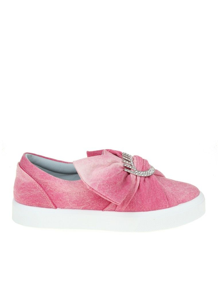Chiara Ferragni Pink Canvas Slip-on