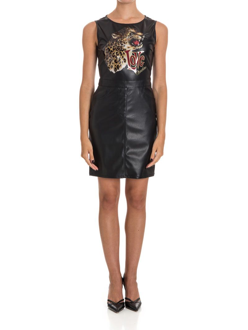 Love Moschino Faux Leather Dress