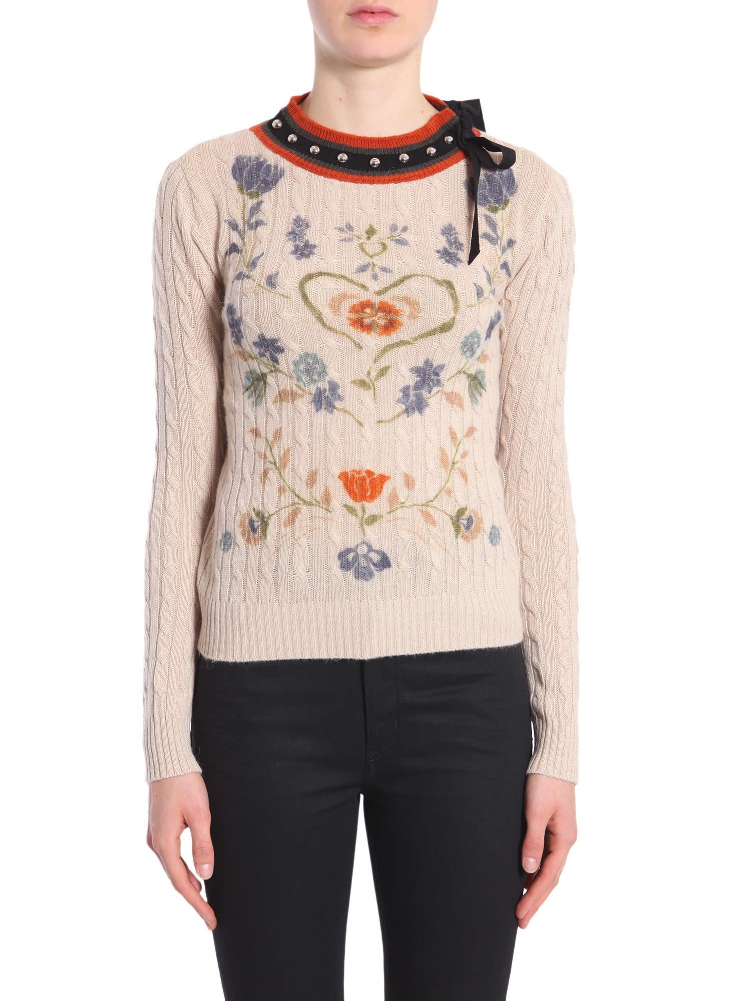 Fraktur Printed Sweater