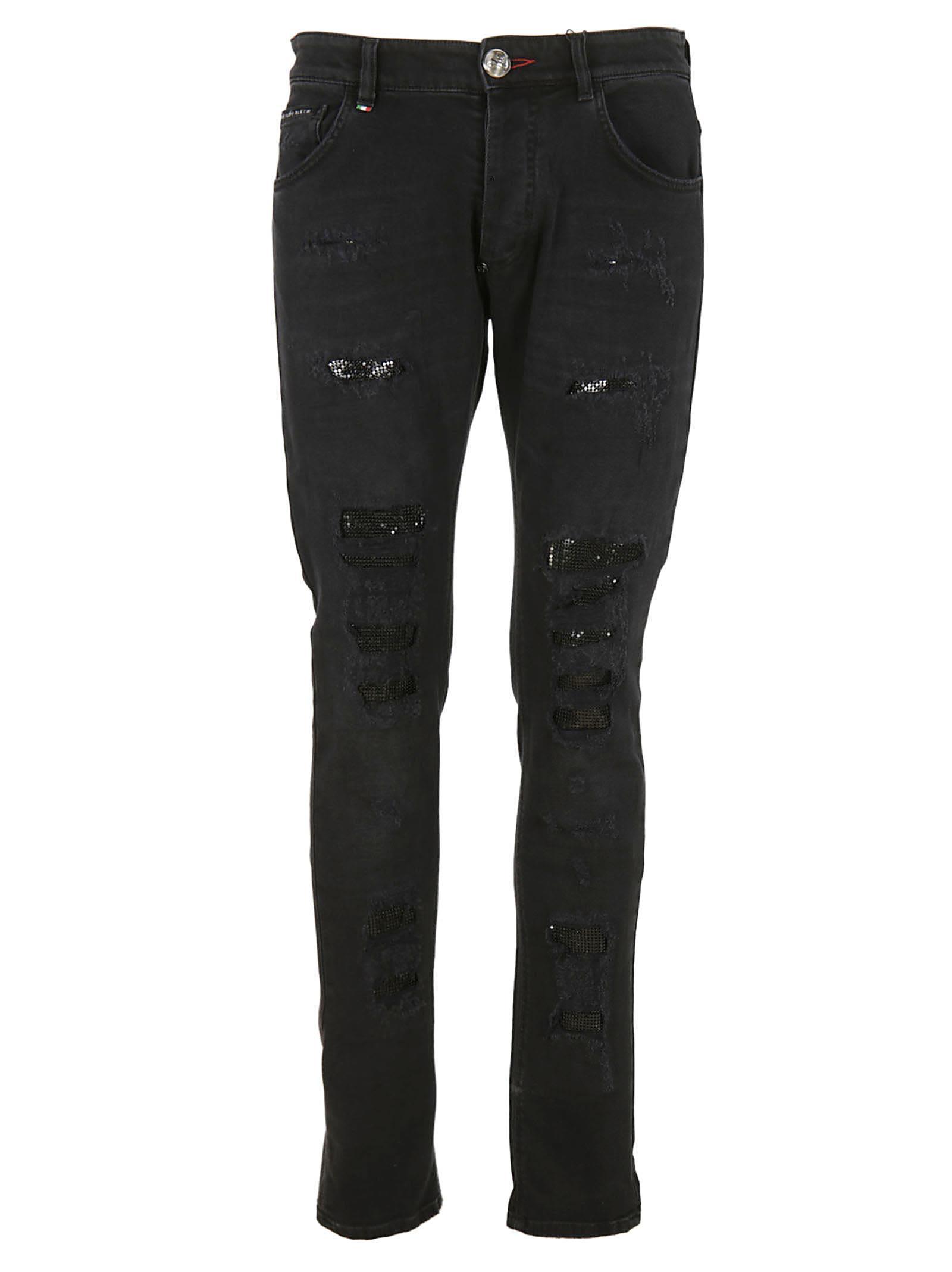philipp plein philipp plein miyoko jeans men 39 s jeans italist. Black Bedroom Furniture Sets. Home Design Ideas