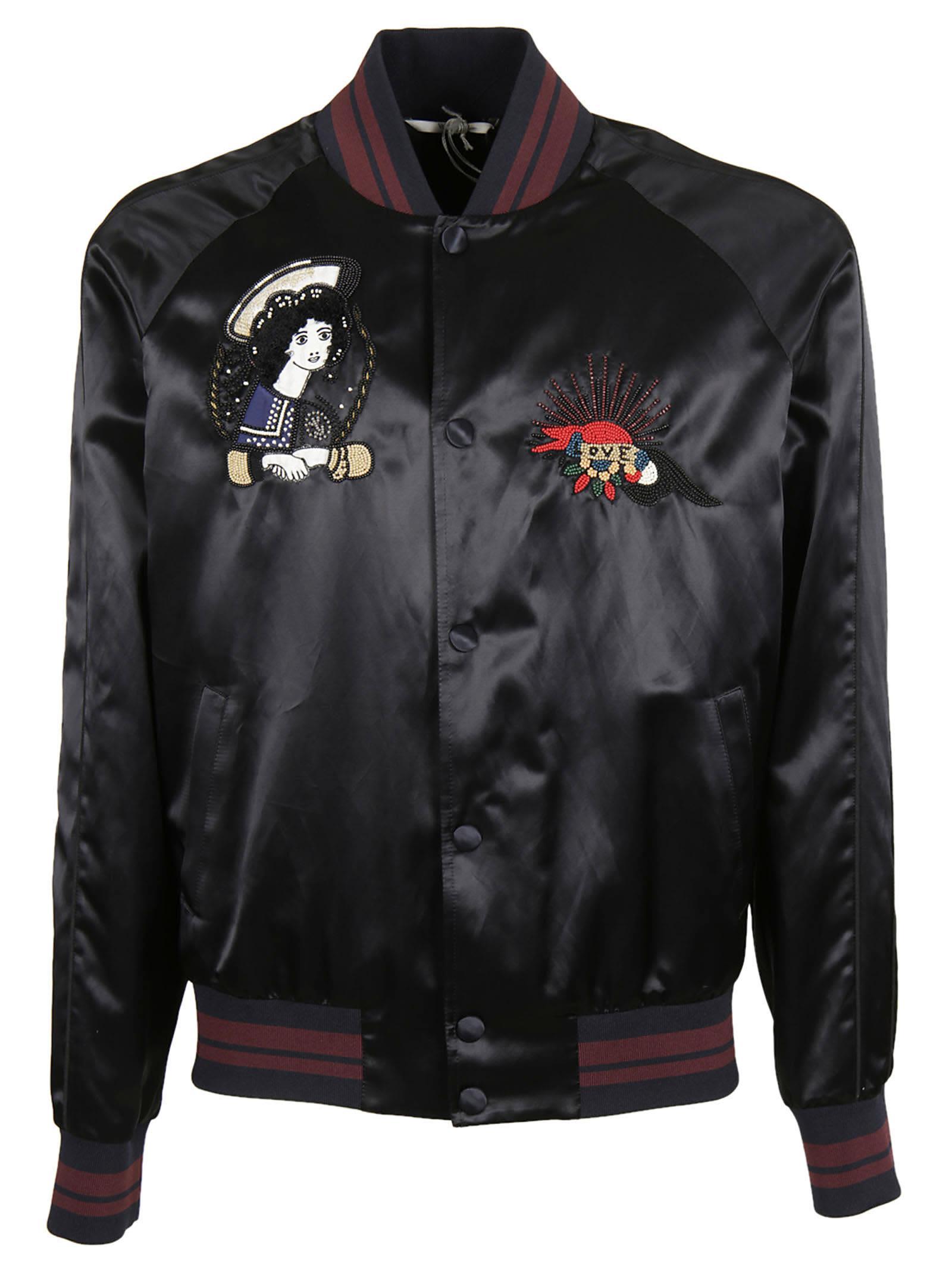 Valentino embroidered bomber jacket men s