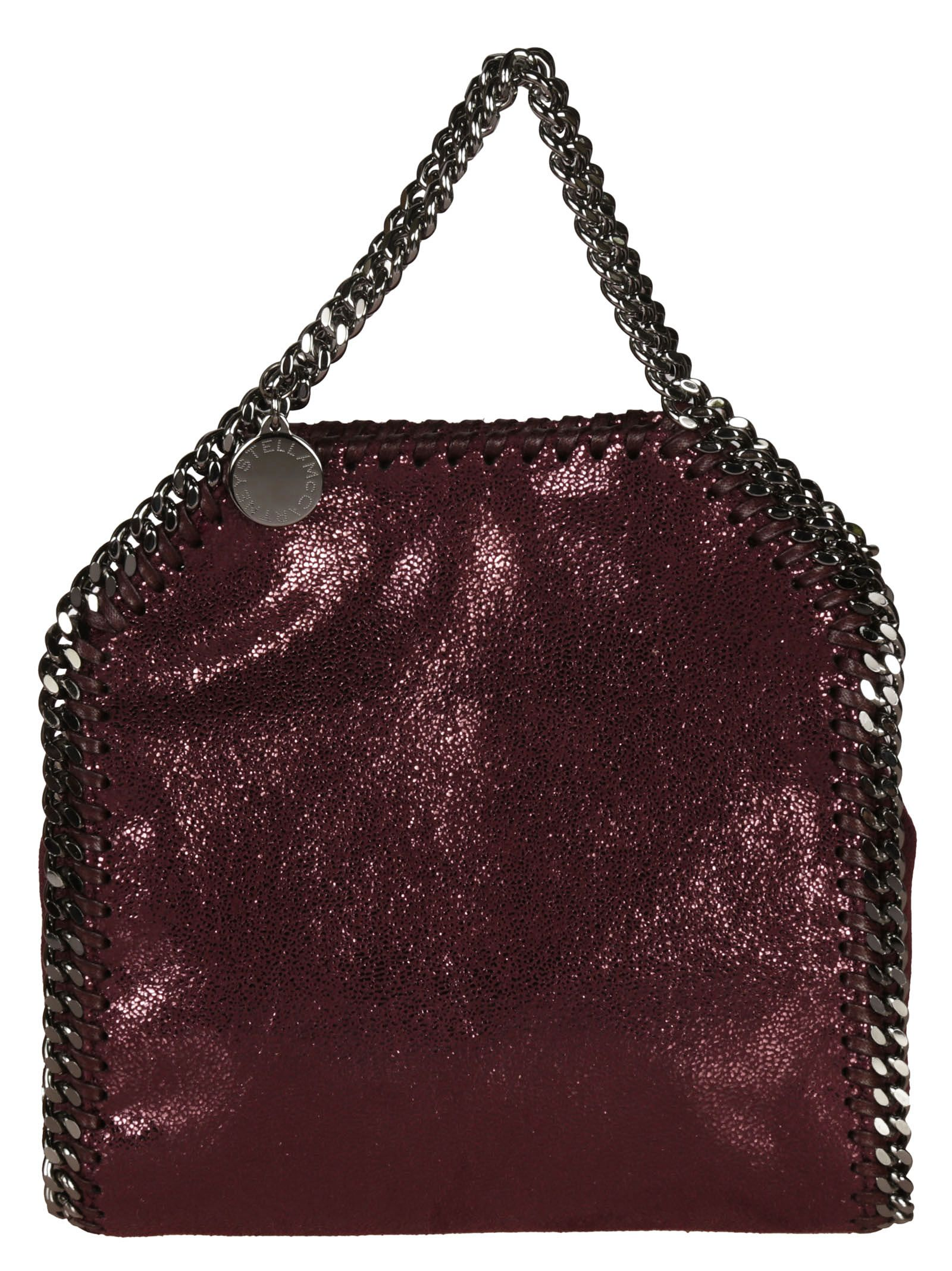 7ac432cda4bd7 Stella Mccartney Falabella Shiny Dotted Chamois Tiny Tote In Indian ...