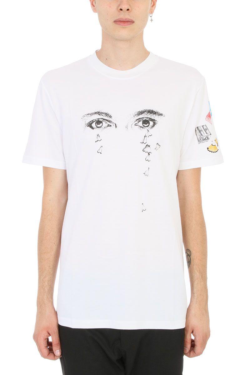 Lanvin Pencils Shavins White Cotton T-shirt