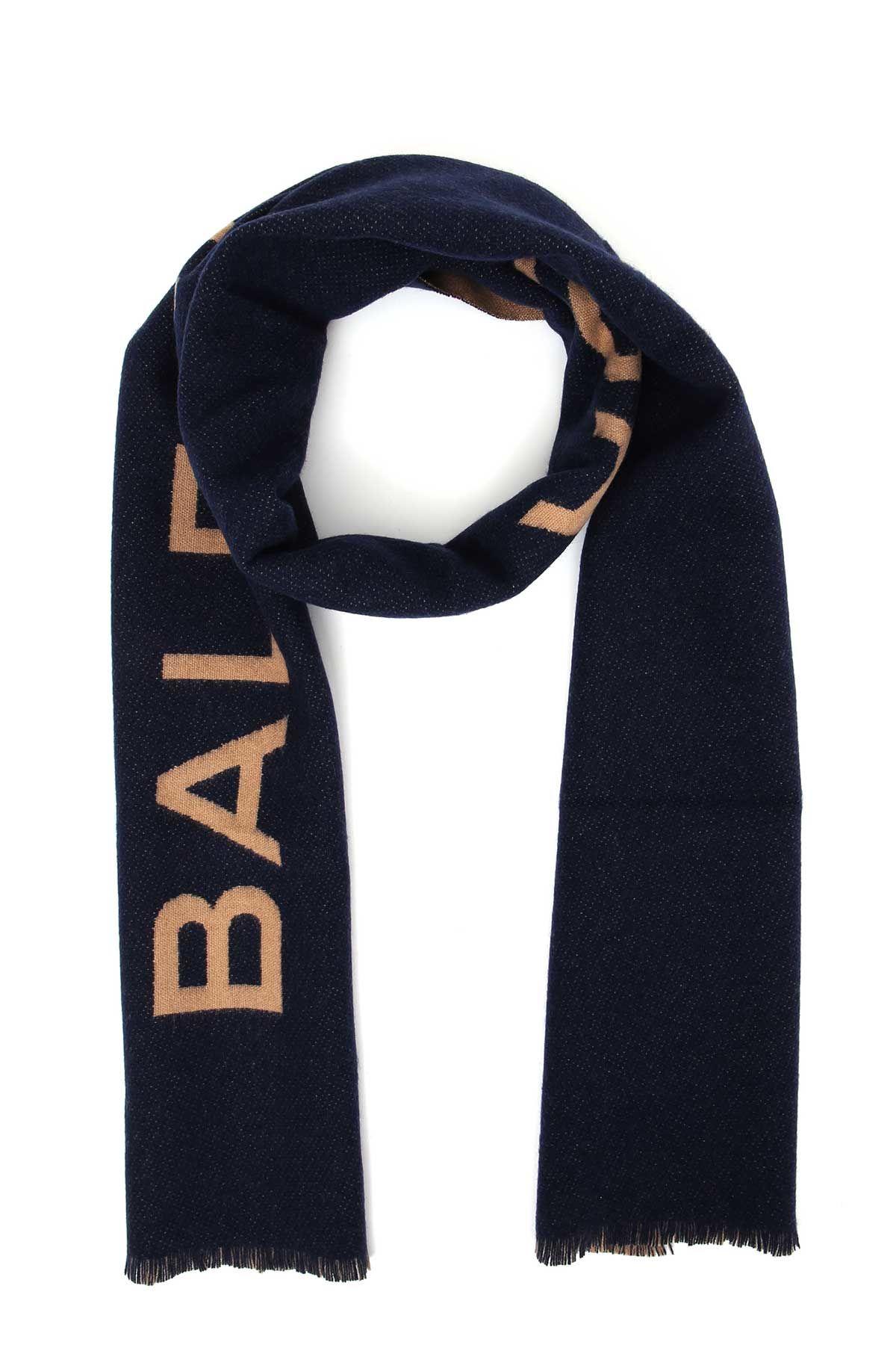 Balenciaga Cashmere Scarf With Big Logo
