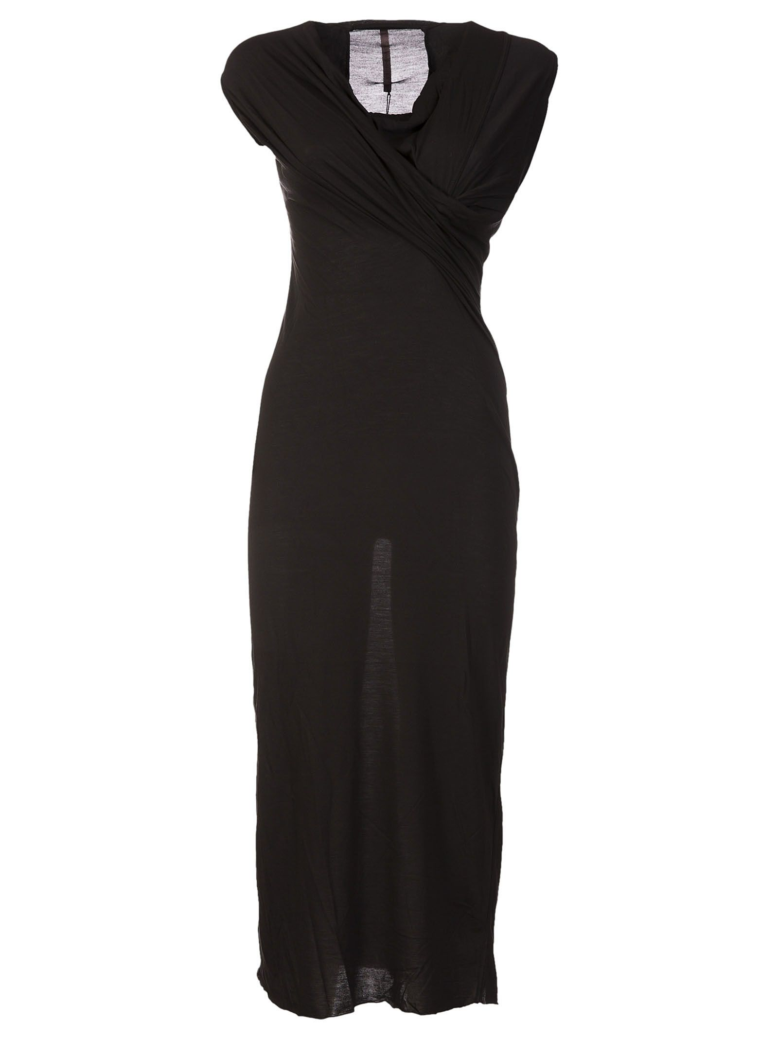 Rick Owens Lilies Draped Fitted Dress