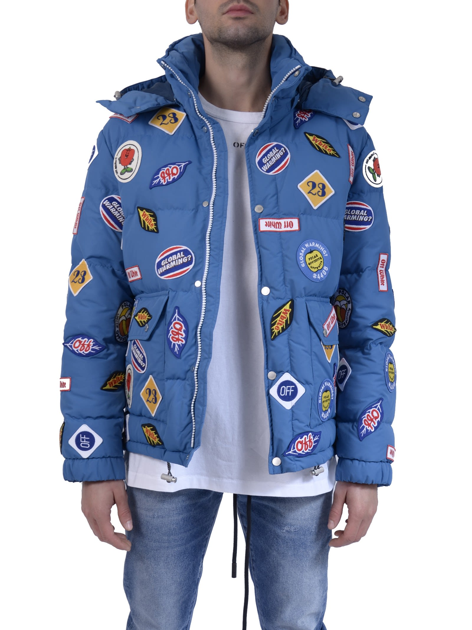 Off-White Blue Patches Down Jacket