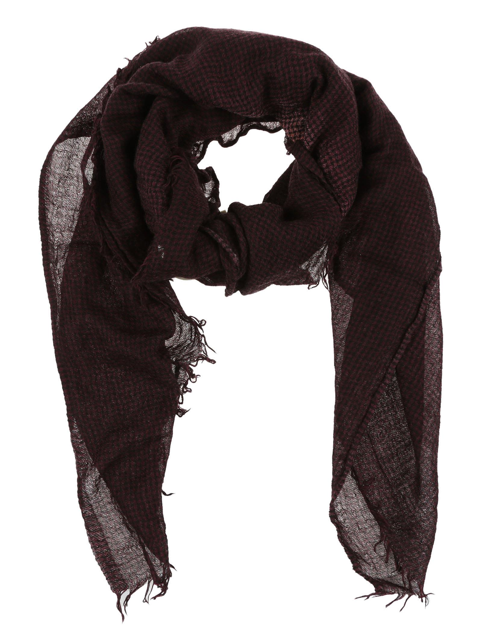 Destin Srl Checked Scarf