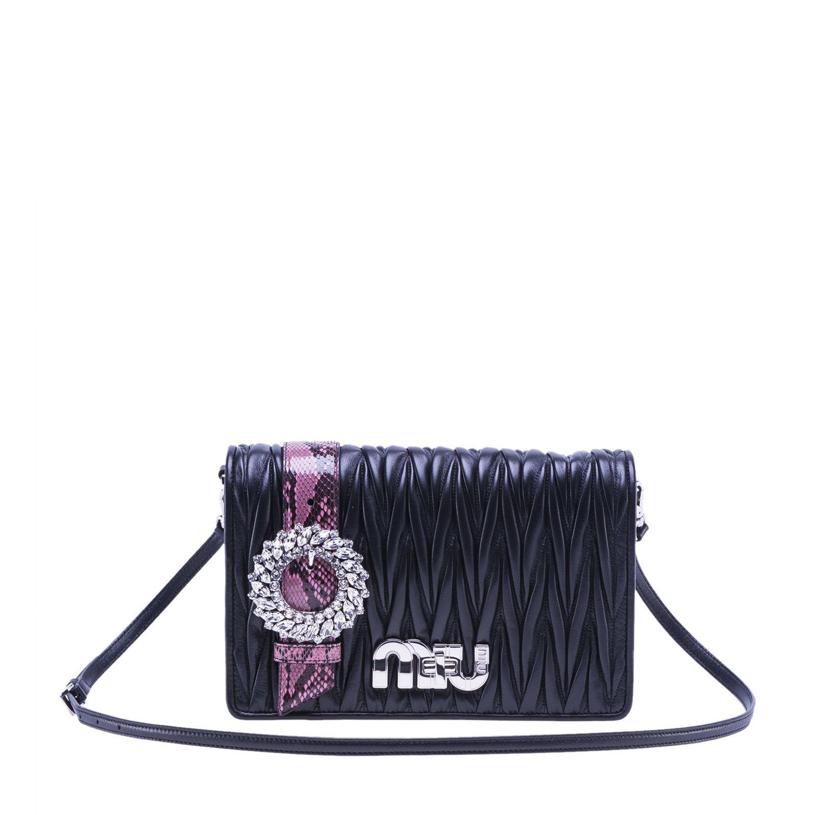 Miu Miu Fold Over Shoulder Bag