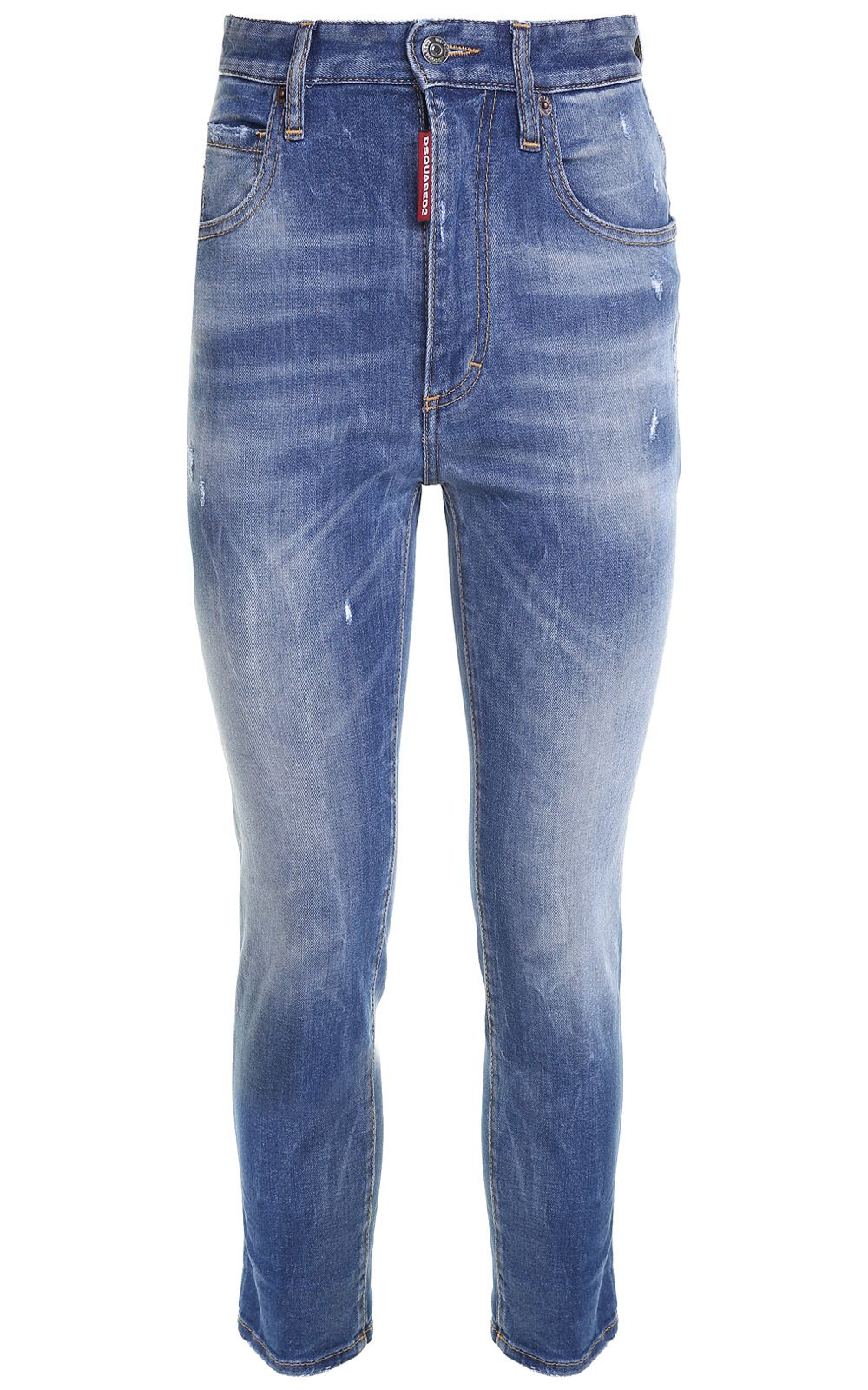 Dsquared2 Twiggy Cropped High-rise Jeans