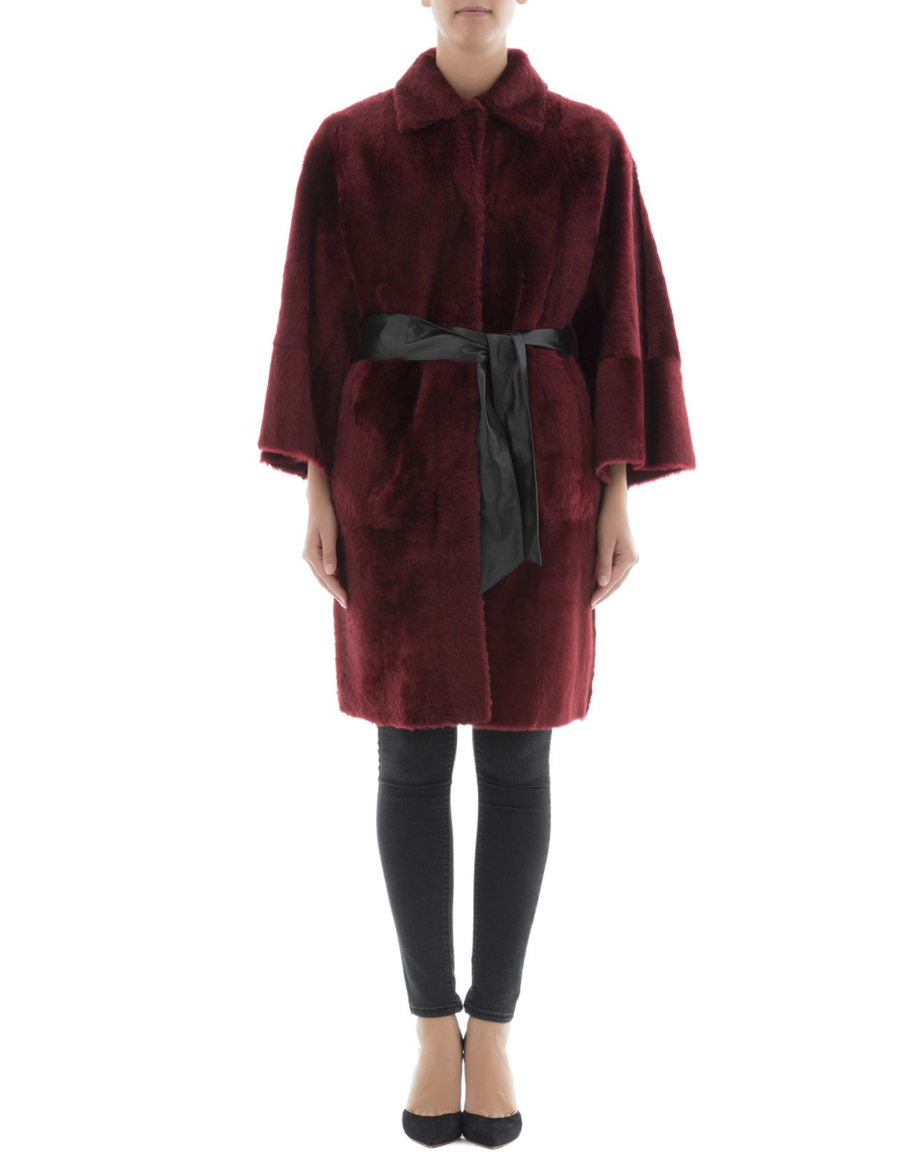 Bordeaux Leather Coat