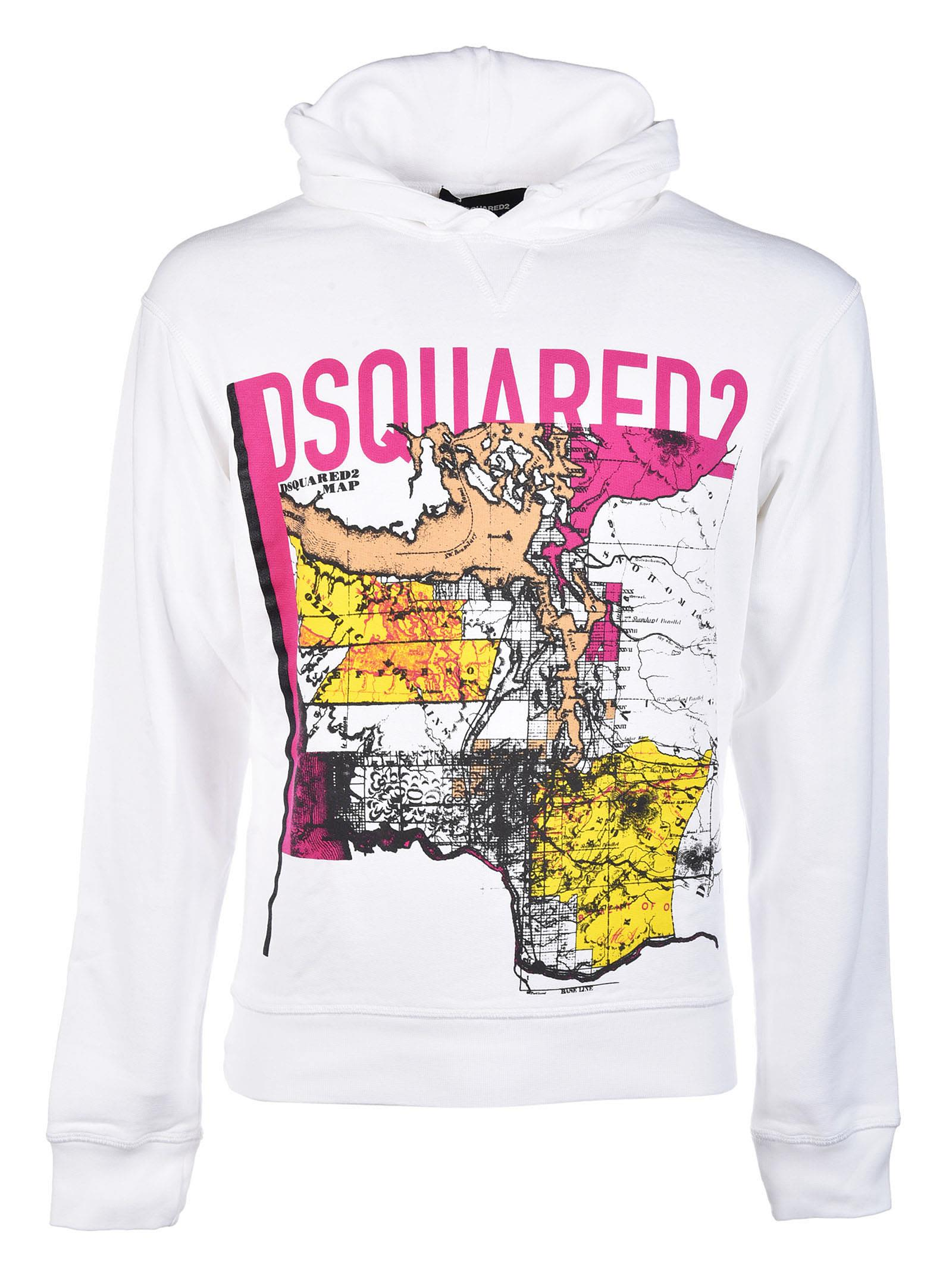 Dsquared2 Map Print Hoodie