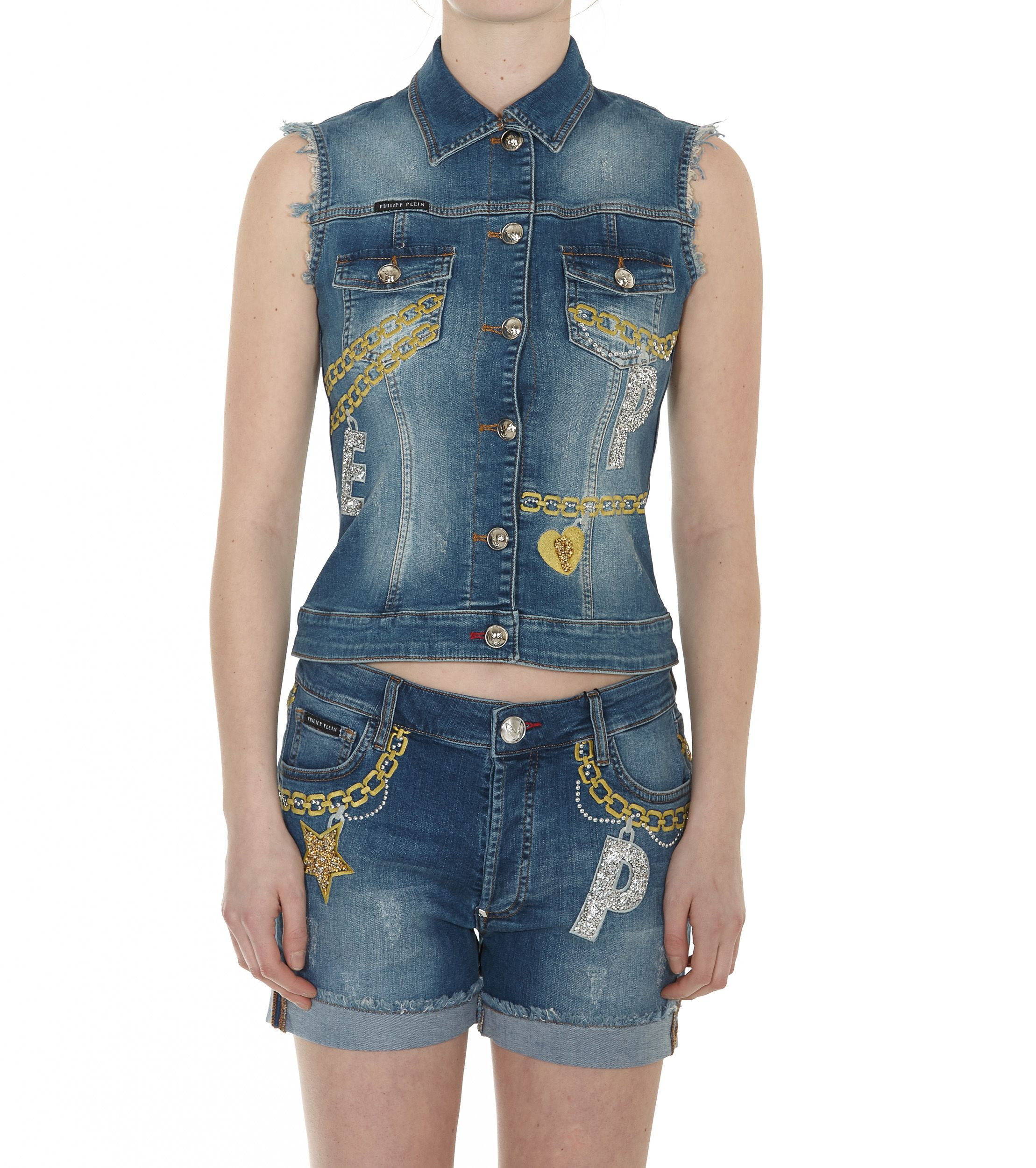 Philipp Plein Gemma Denim Jacket