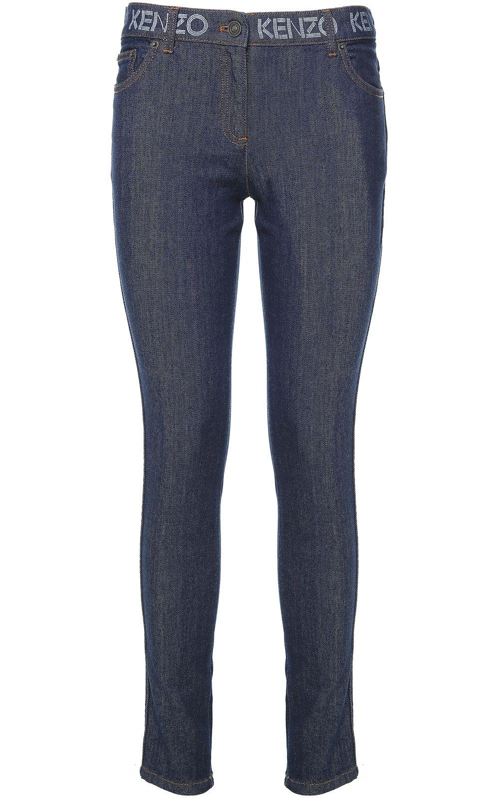 Kenzo Logo-print Cotton-denim Skinny Jeans